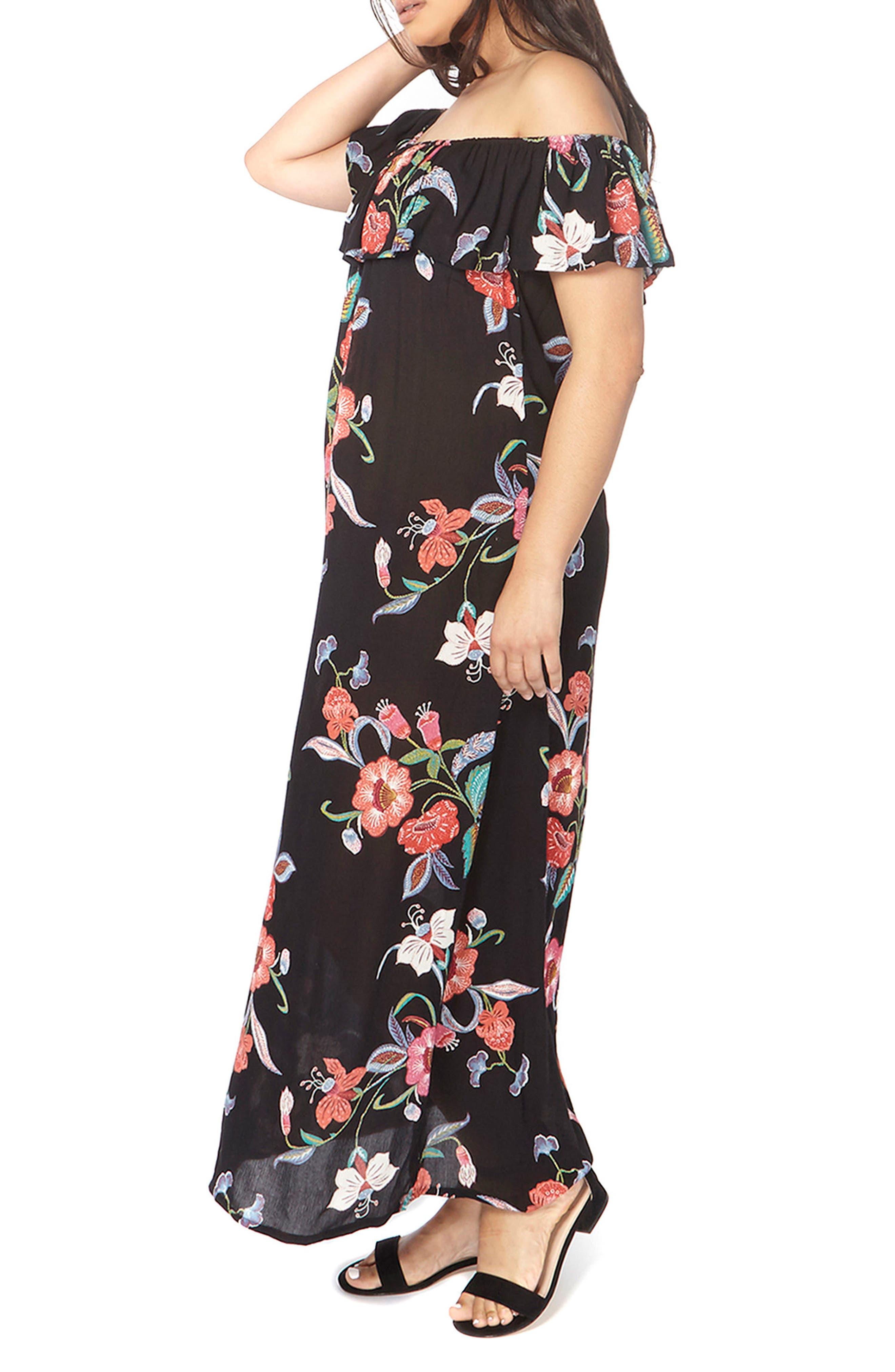 Evans Convertible Floral Maxi Dress (Plus Size)