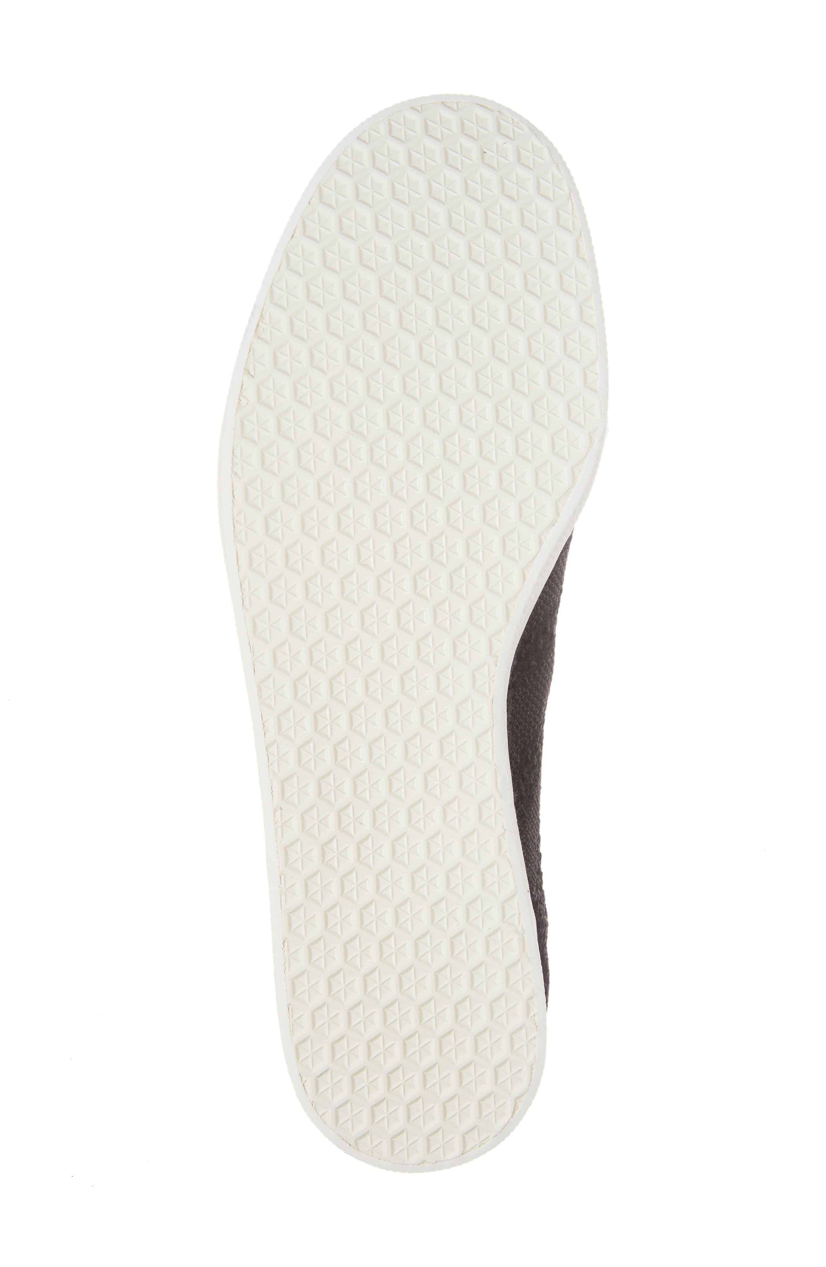 Gazelle Primeknit Sneaker,                             Alternate thumbnail 6, color,                             Core Black/ Off White