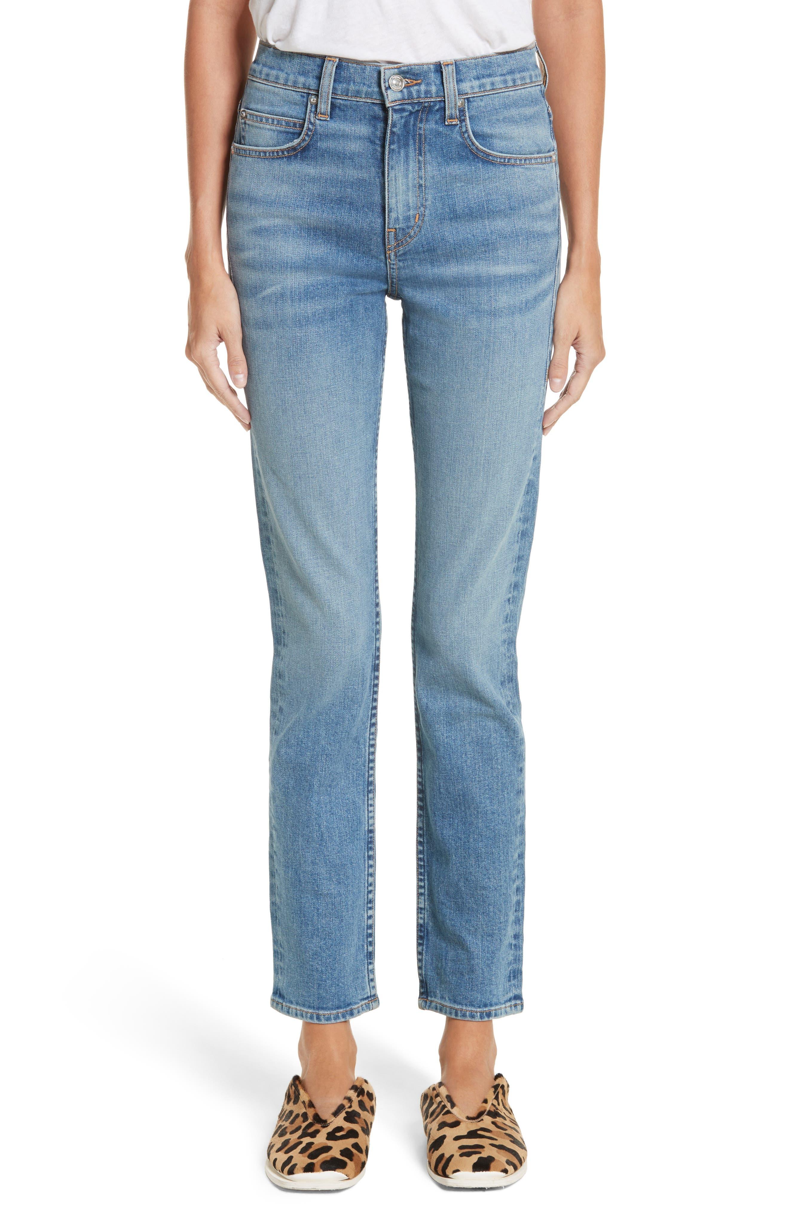PSWL Straight Leg Jeans,                         Main,                         color, Medium Blue