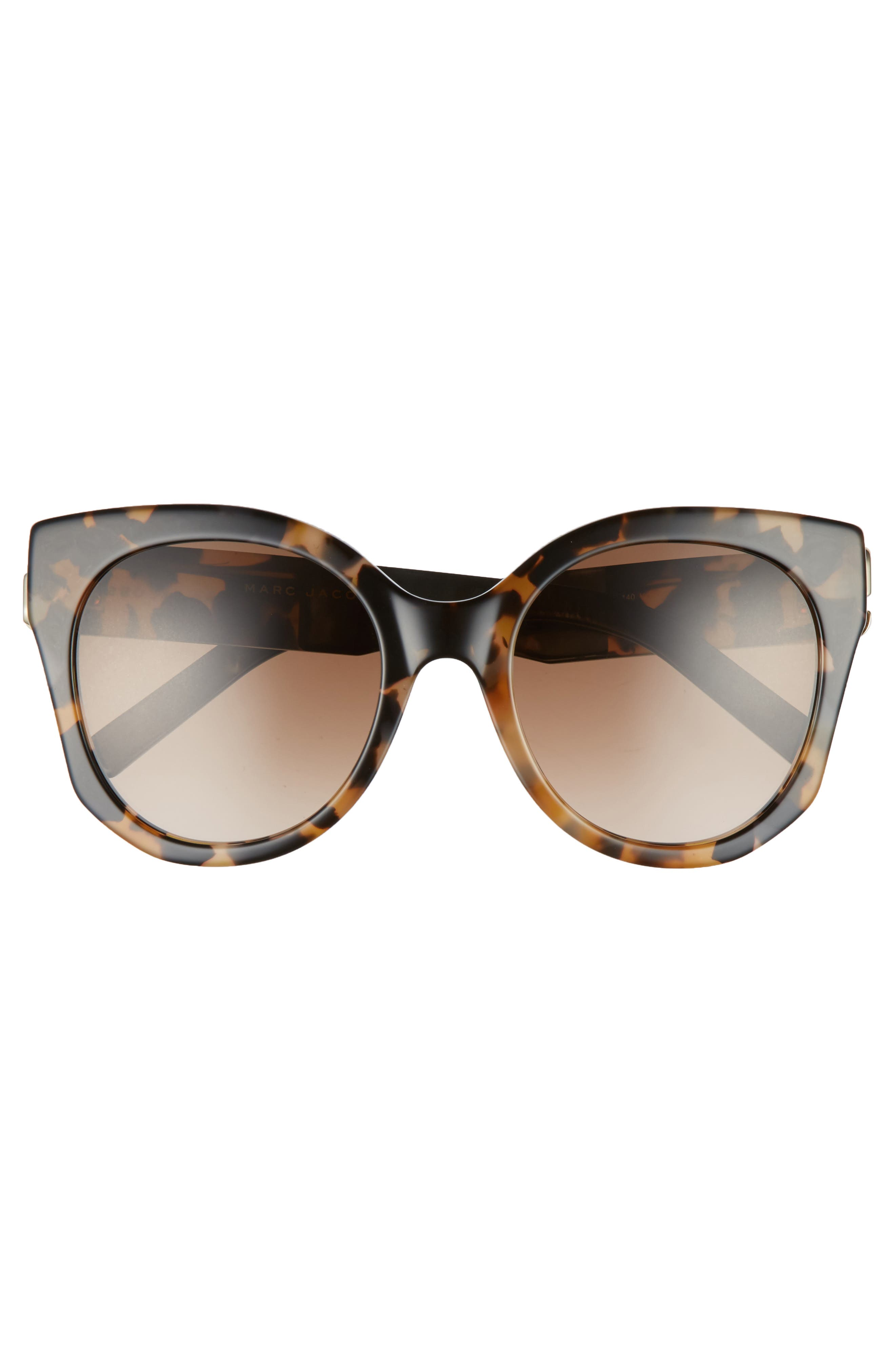 53mm Gradient Lens Cat Eye Sunglasses,                             Alternate thumbnail 3, color,                             Dark Havanna