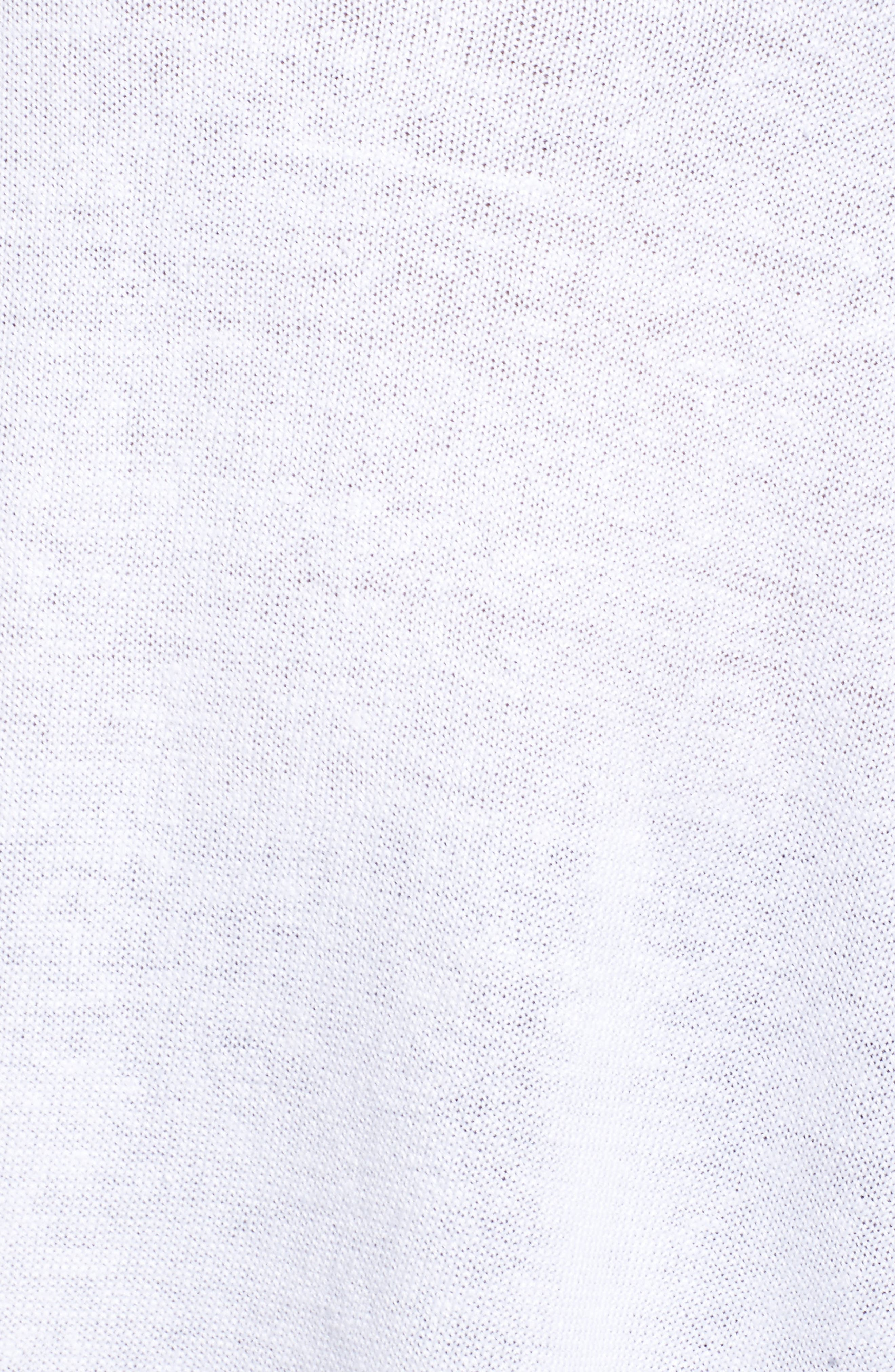 Side Tie Organic Linen Sweater,                             Alternate thumbnail 5, color,                             White