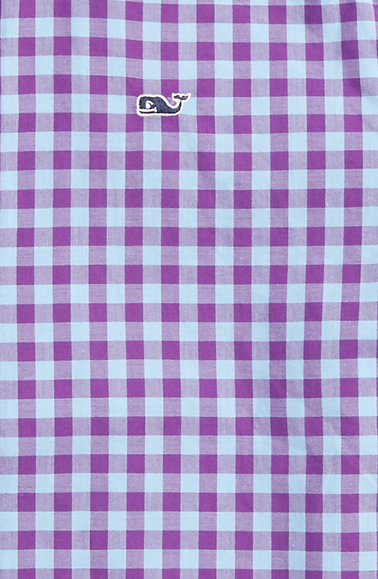 Foggy Coast Gingham Whale Shirt,                             Alternate thumbnail 2, color,                             Snapdragon