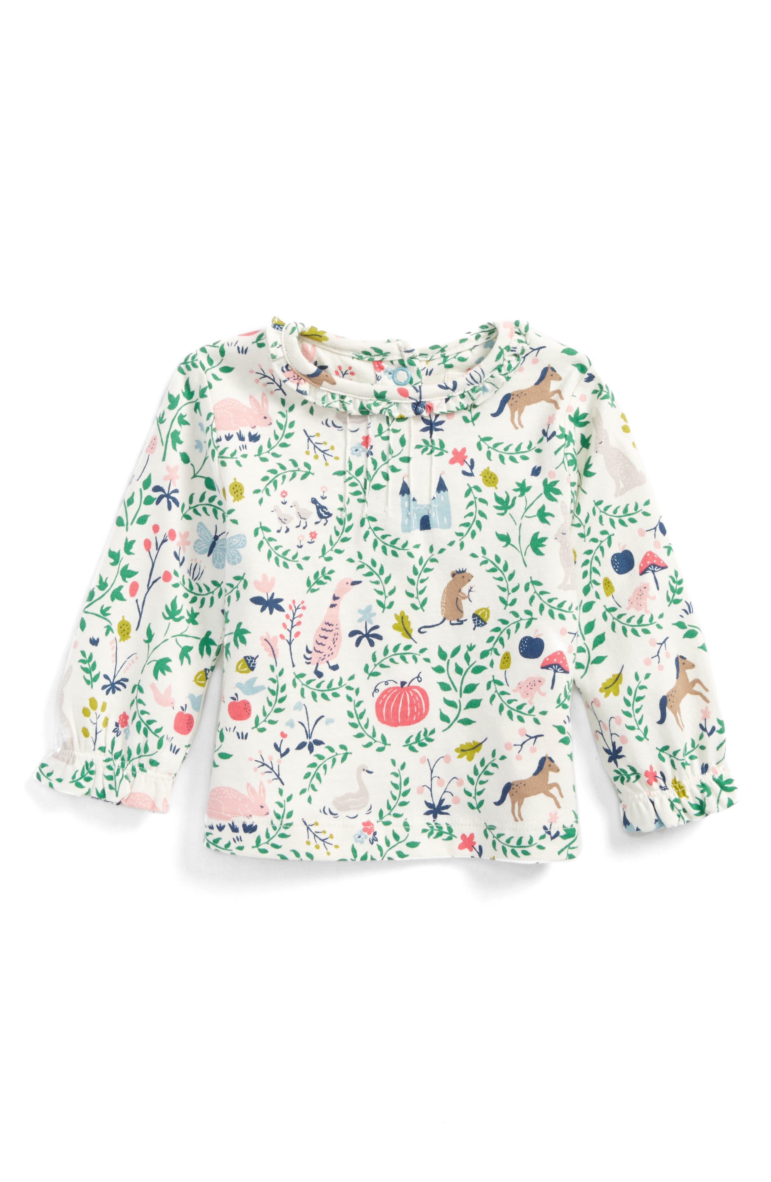 Mini Boden Pretty Tee (Baby Girls & Toddler Girls)