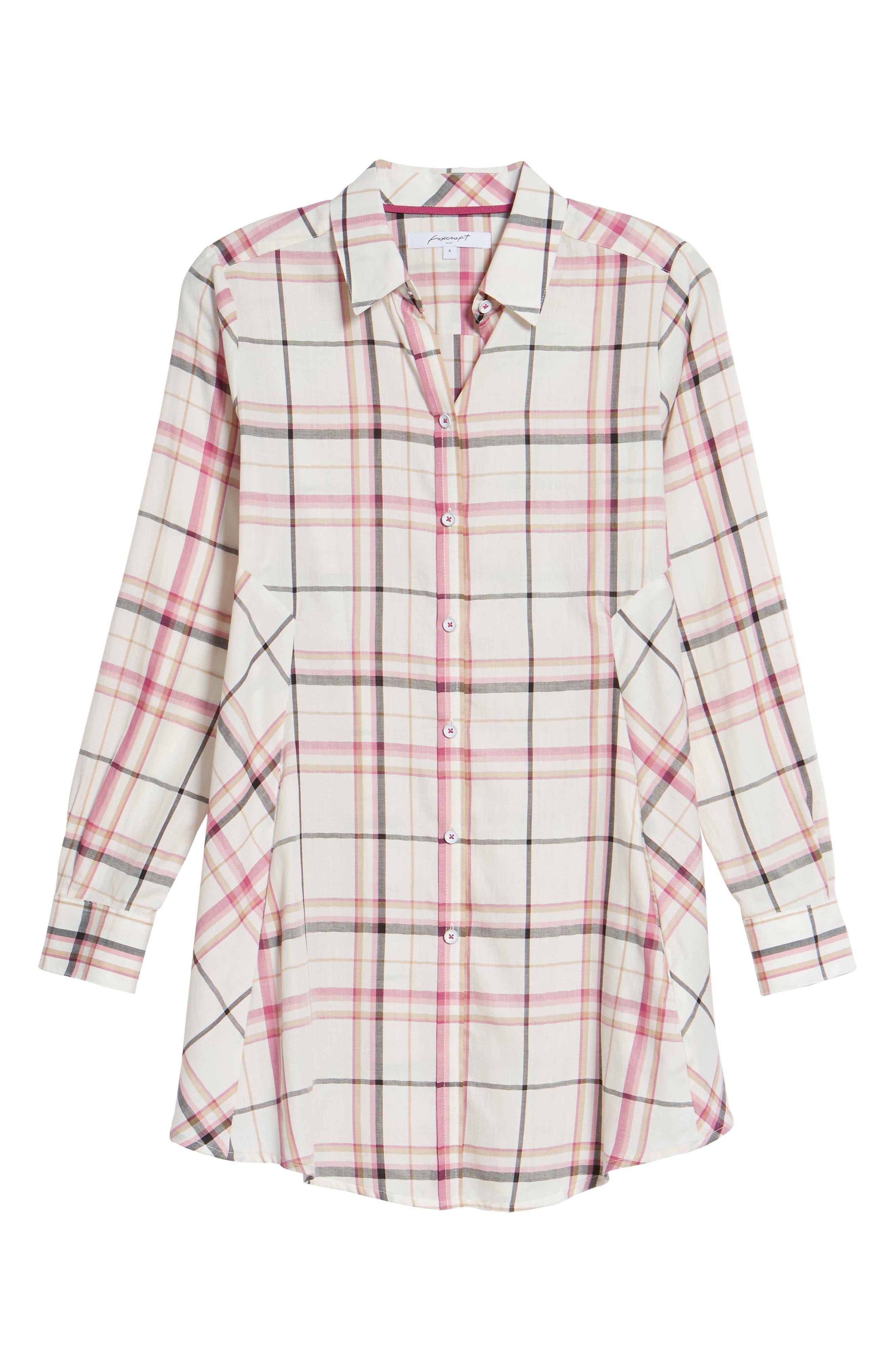 Cici Plaid Shirt,                             Main thumbnail 1, color,                             Roseberry Plaid