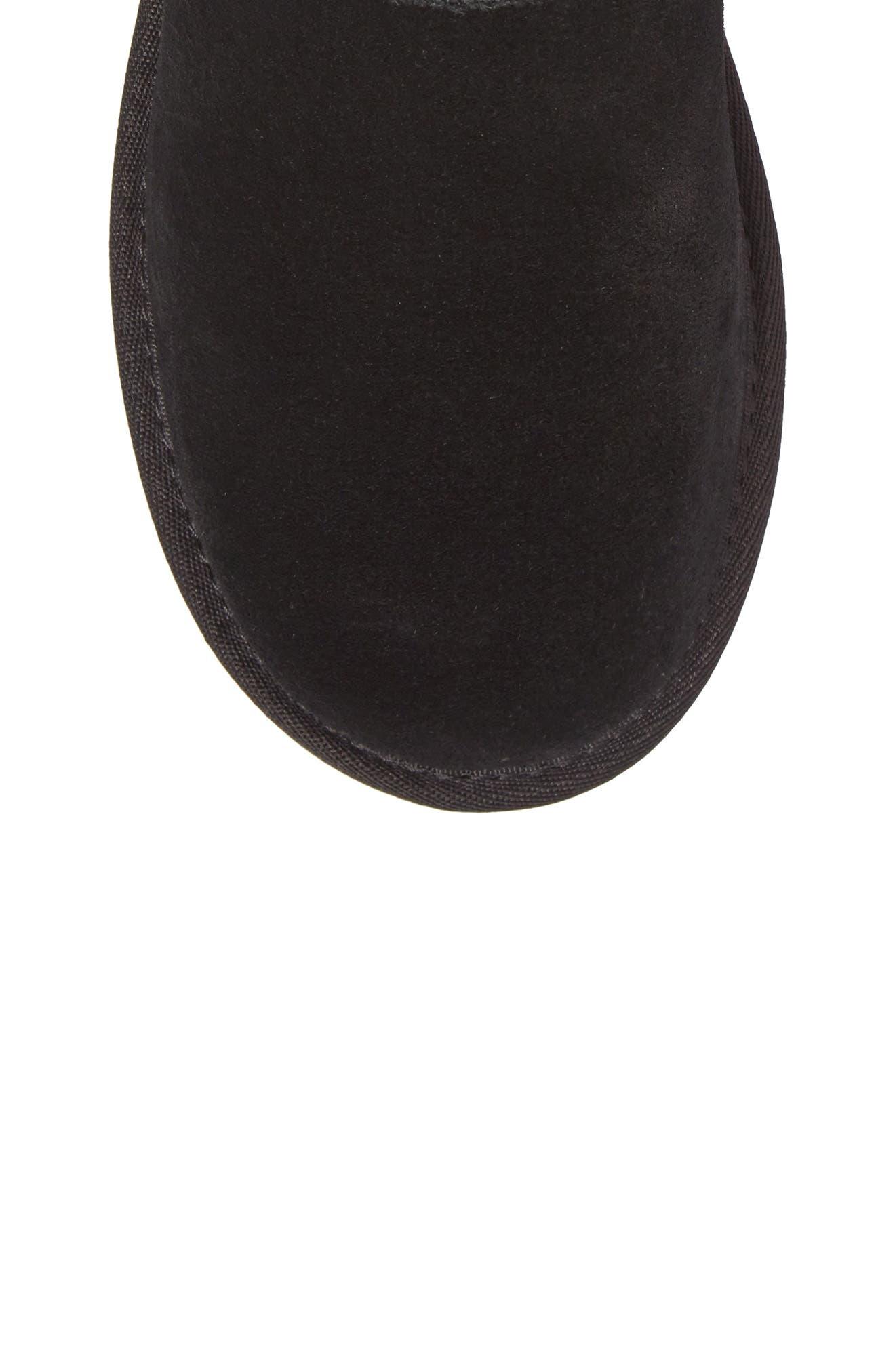 Classic Short Petal Boot,                             Alternate thumbnail 5, color,                             Black Suede
