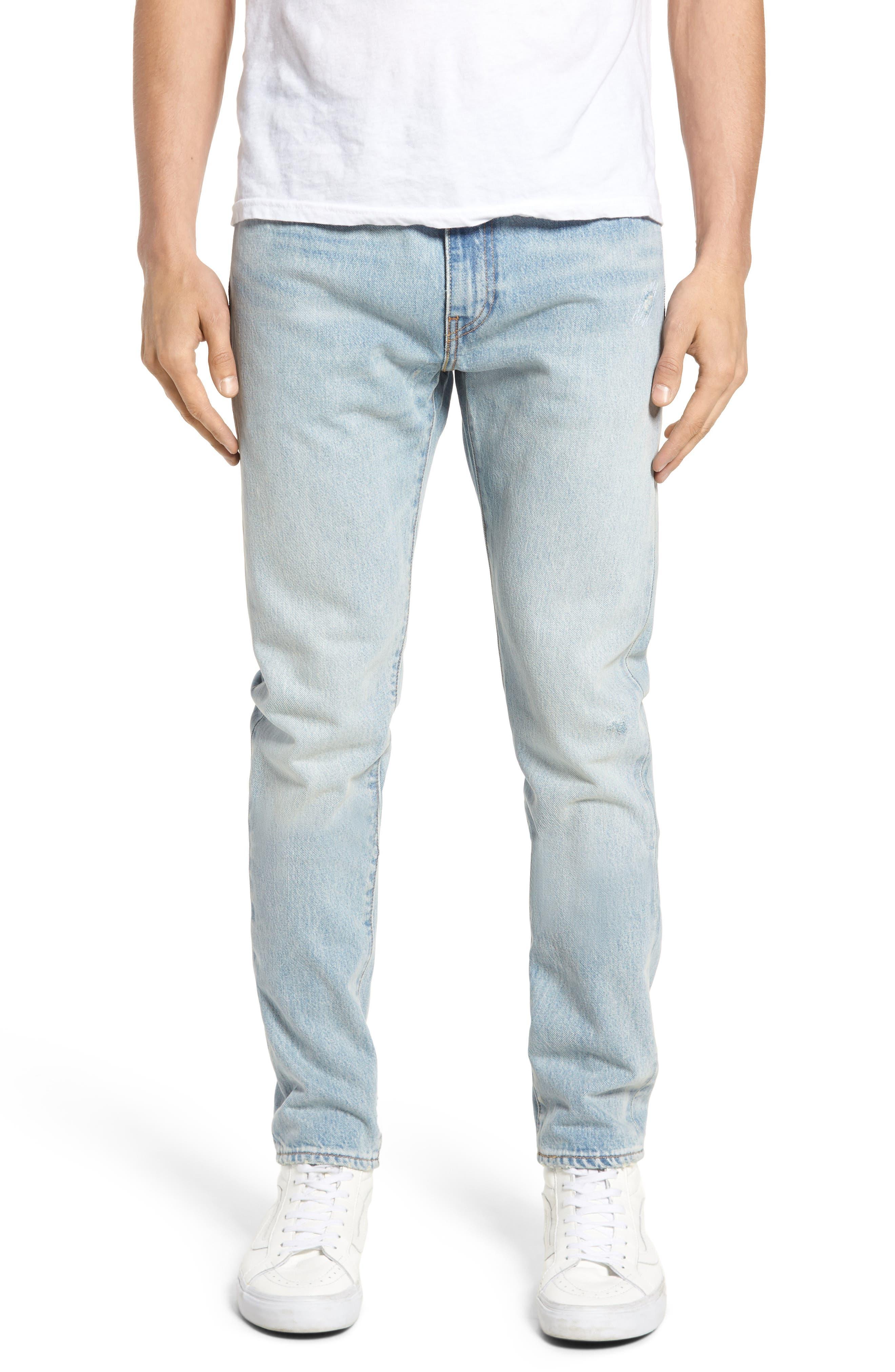 Alternate Image 1 Selected - Levi's® 512™ Skinny Fit Crop Jeans (Medium Blue Surf Ave)
