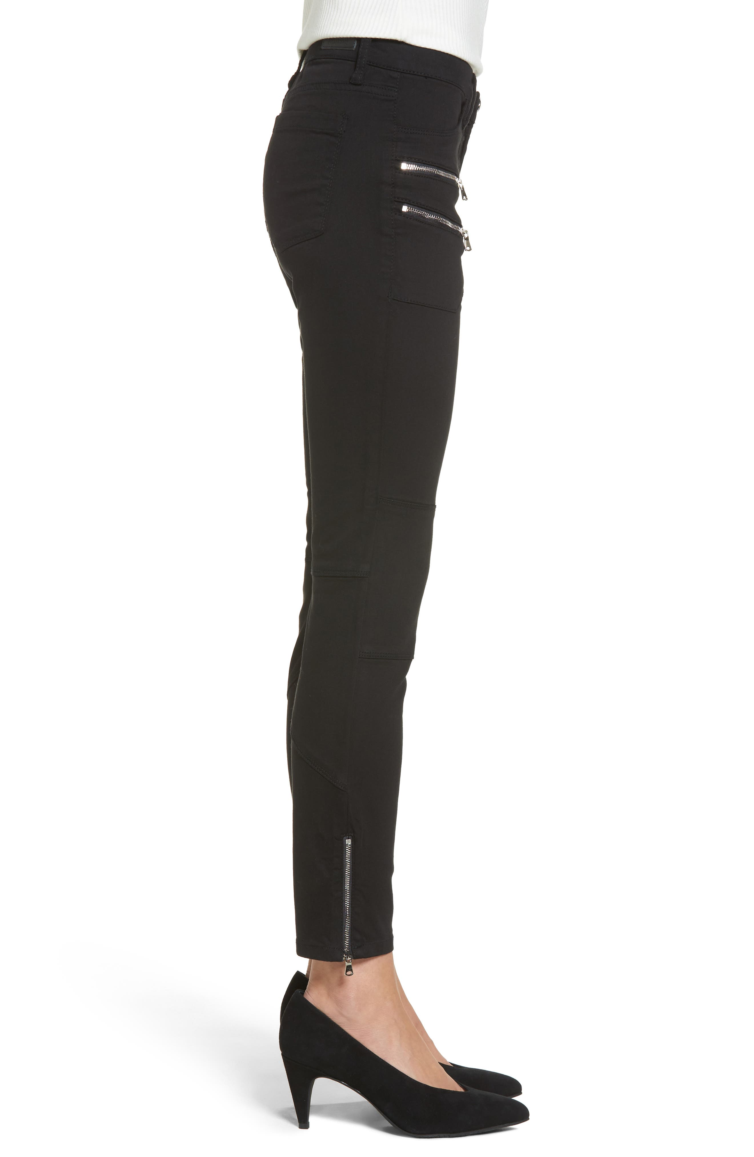 Private Party Skinny Jeans,                             Alternate thumbnail 3, color,                             Black