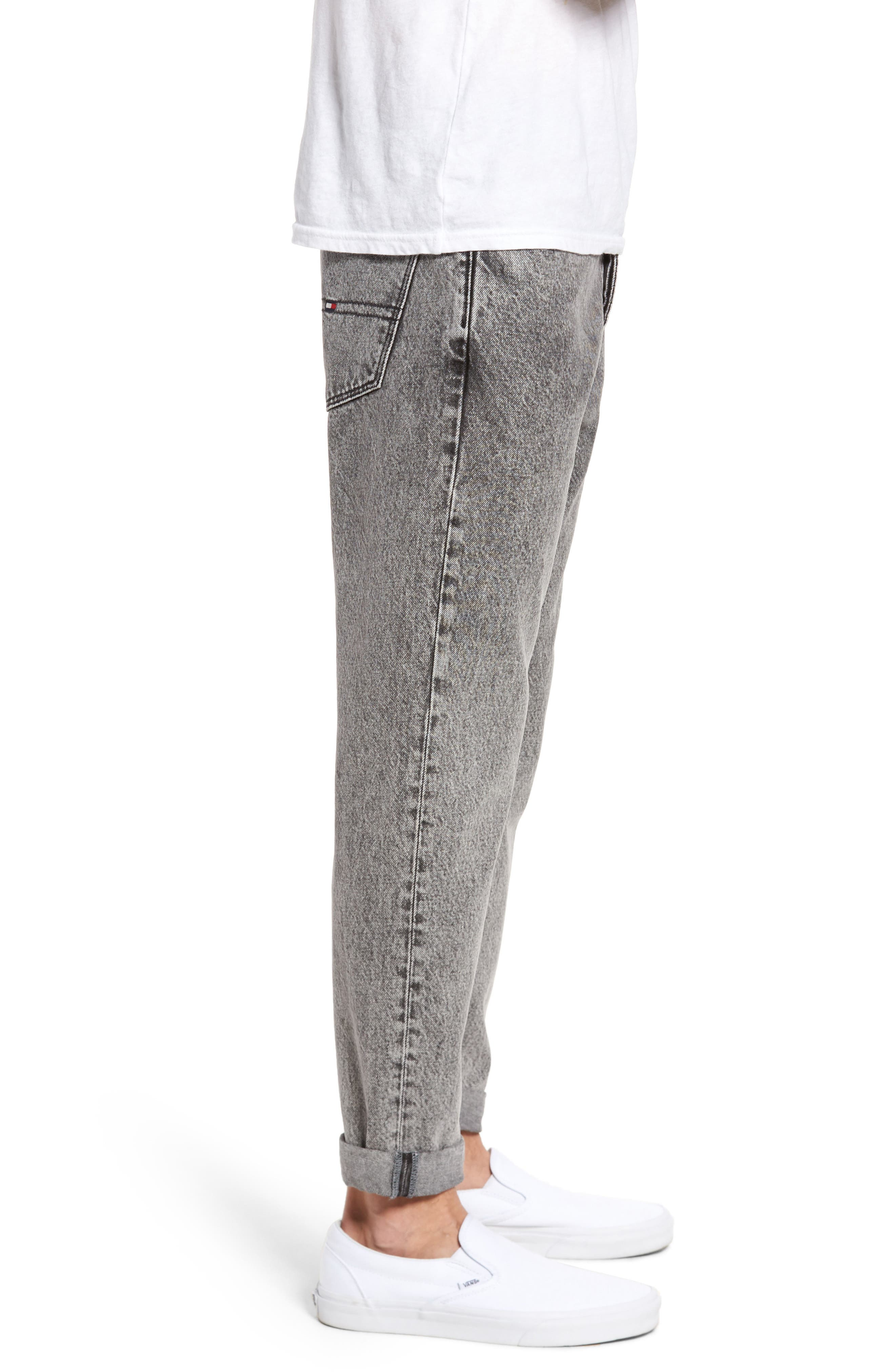 90s Classic Straight Leg Jeans,                             Alternate thumbnail 3, color,                             Washed Black