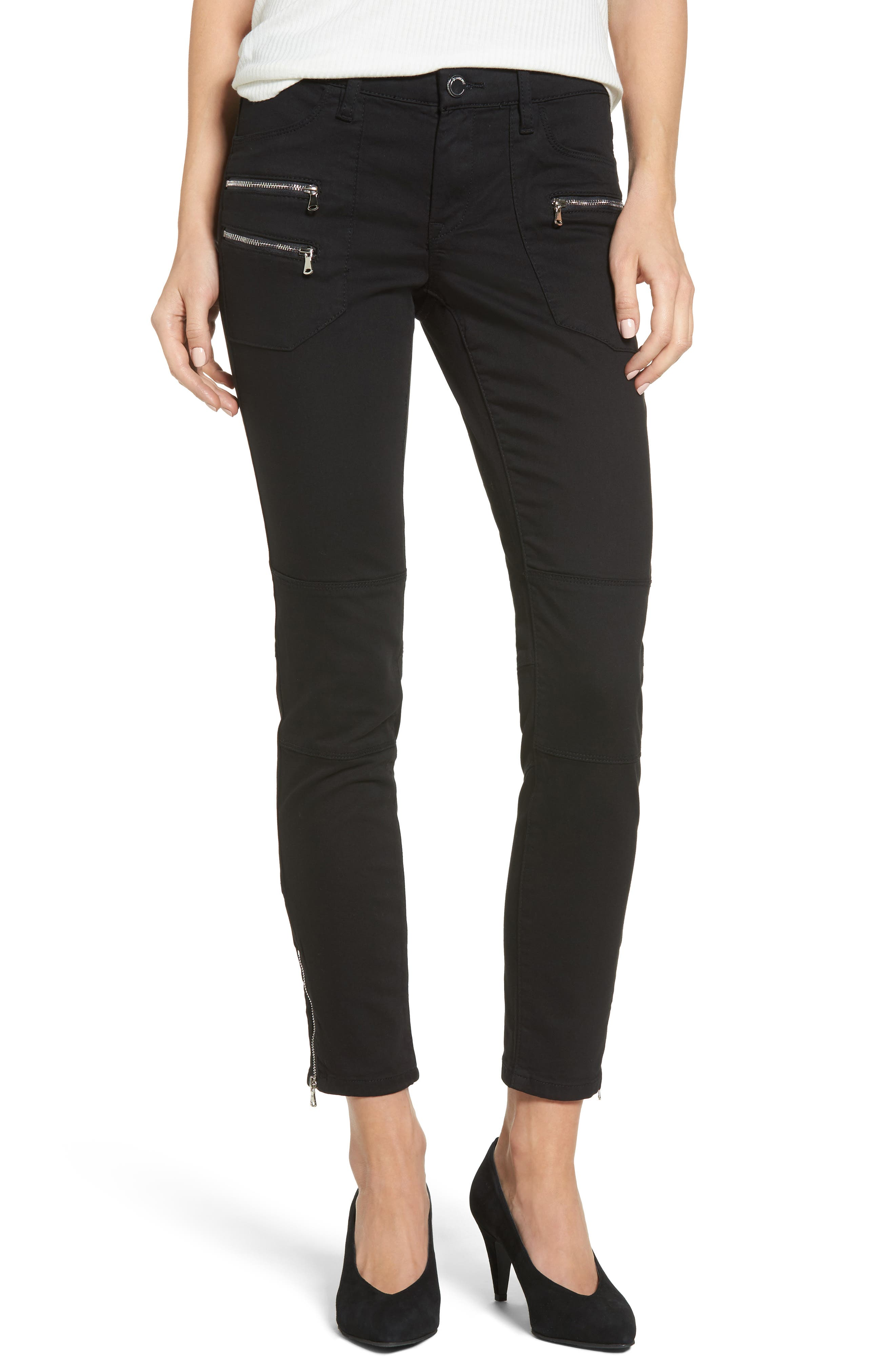 Private Party Skinny Jeans,                             Main thumbnail 1, color,                             Black