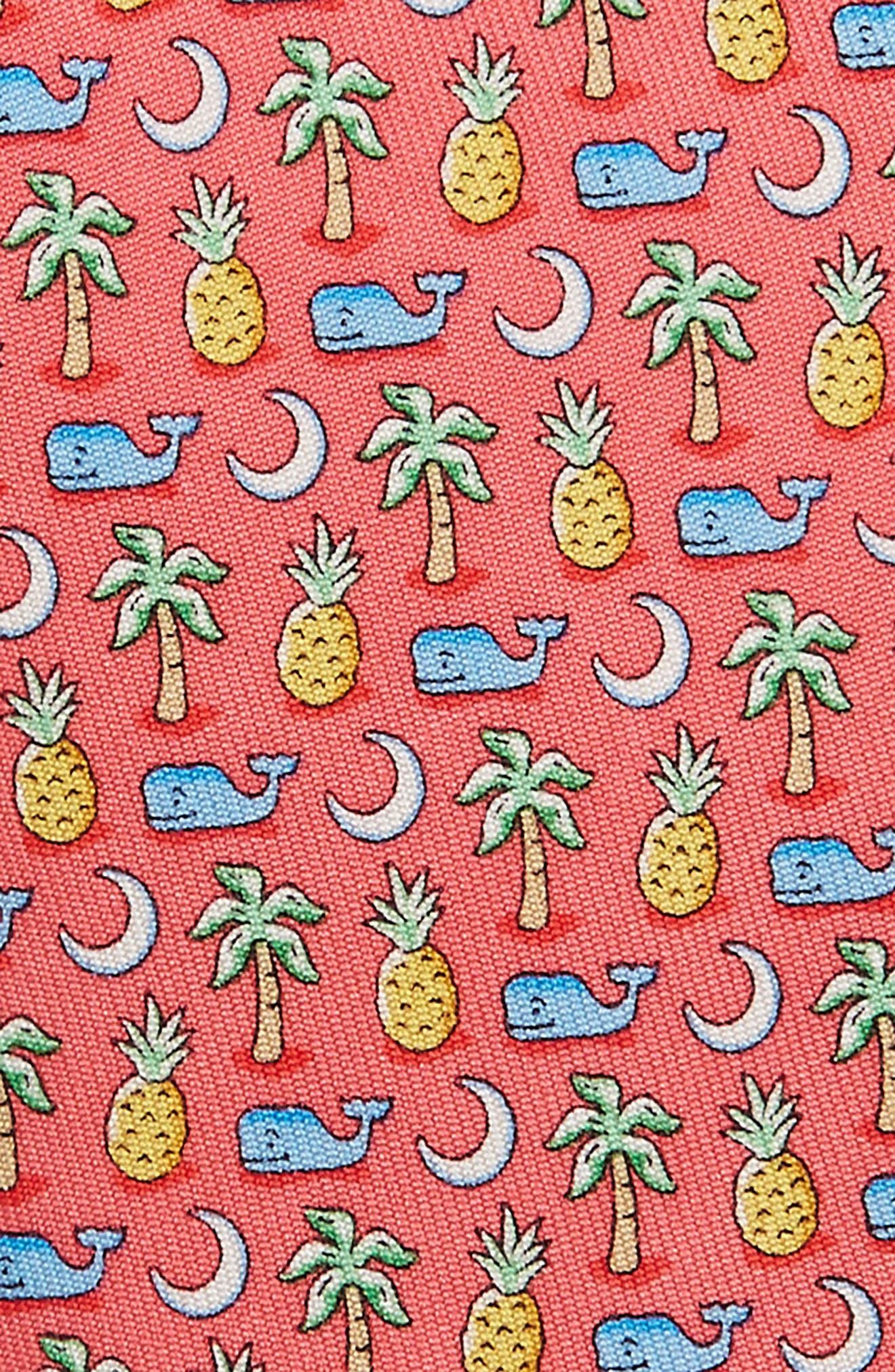 Whale Palm Crescent Silk Tie,                             Alternate thumbnail 2, color,                             Light Pink