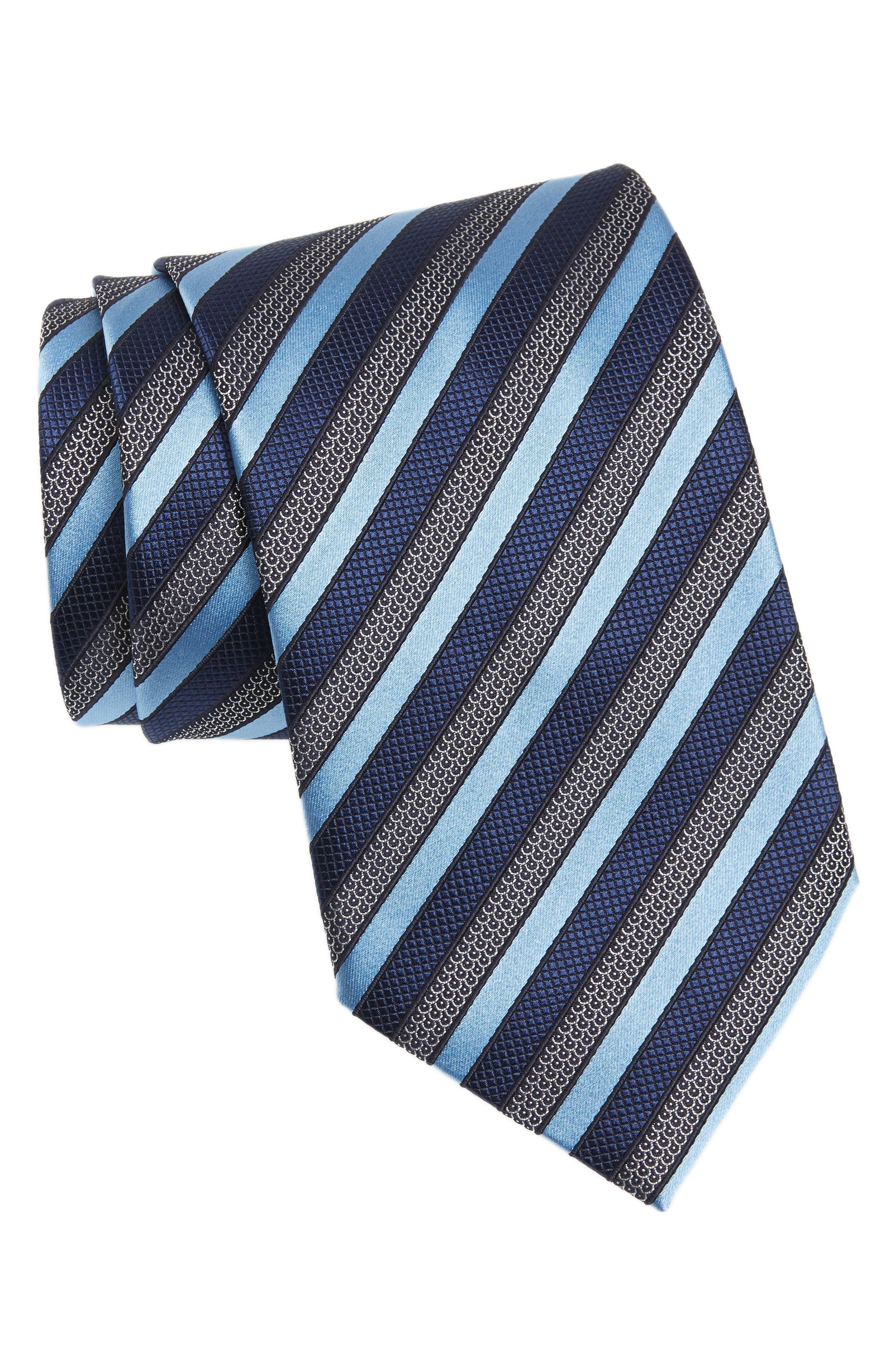 Alternate Image 1 Selected - Ermenegildo Zegna Stripe Silk Tie