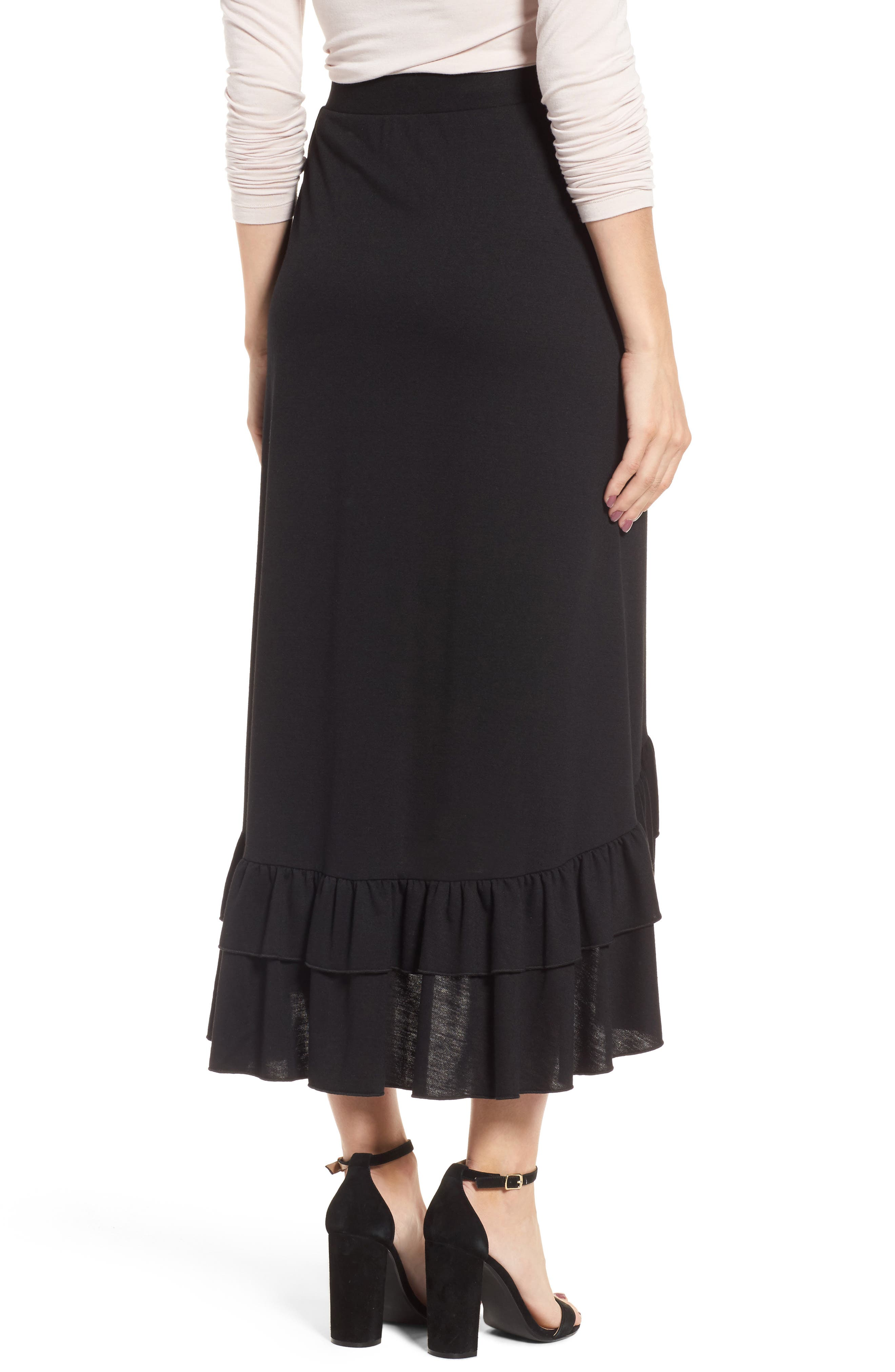 Alternate Image 2  - Halogen® Ruffle Midi Skirt