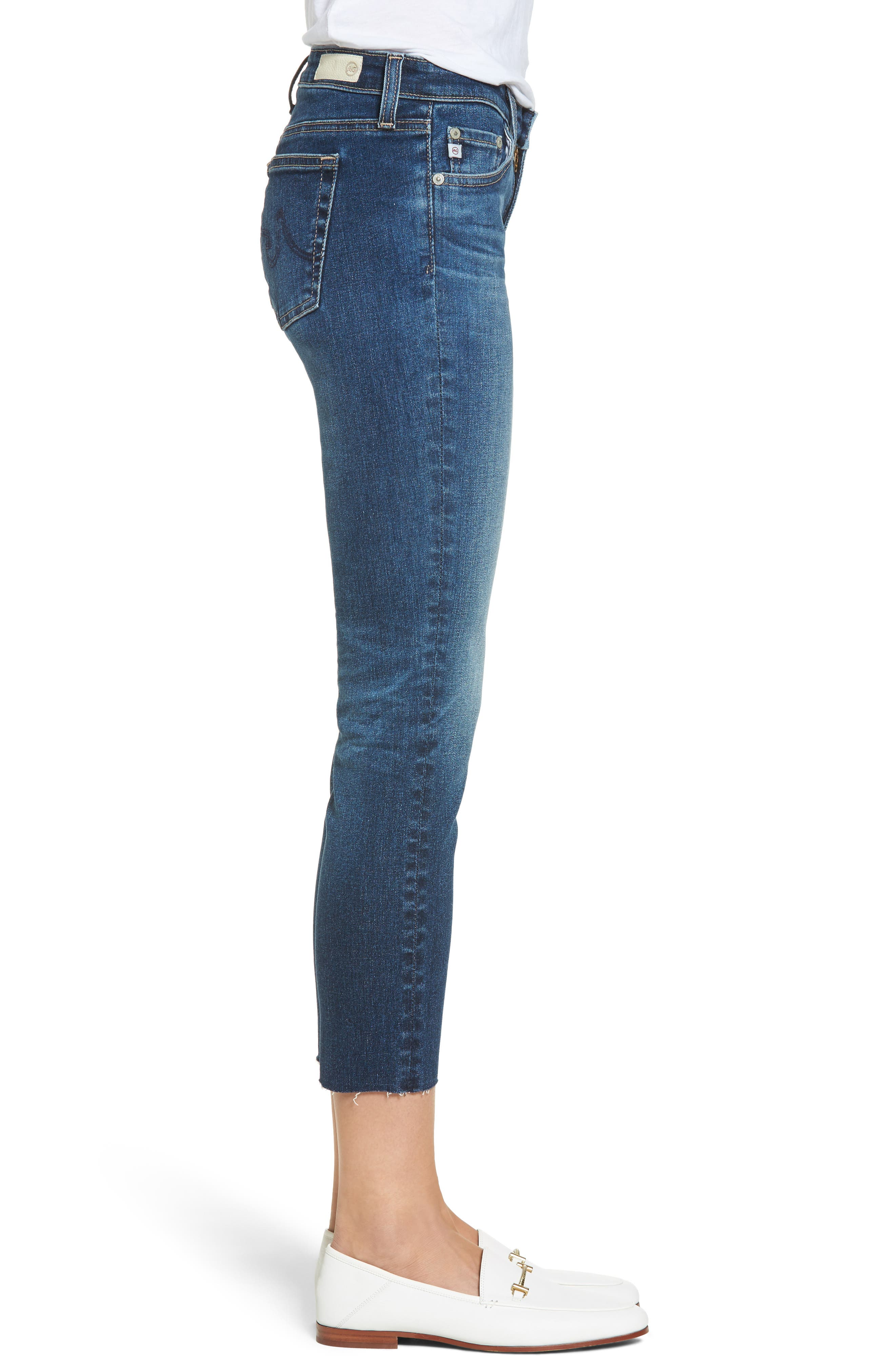 The Stilt Crop Skinny Jeans,                             Alternate thumbnail 3, color,                             5 Years Indigo Avenue