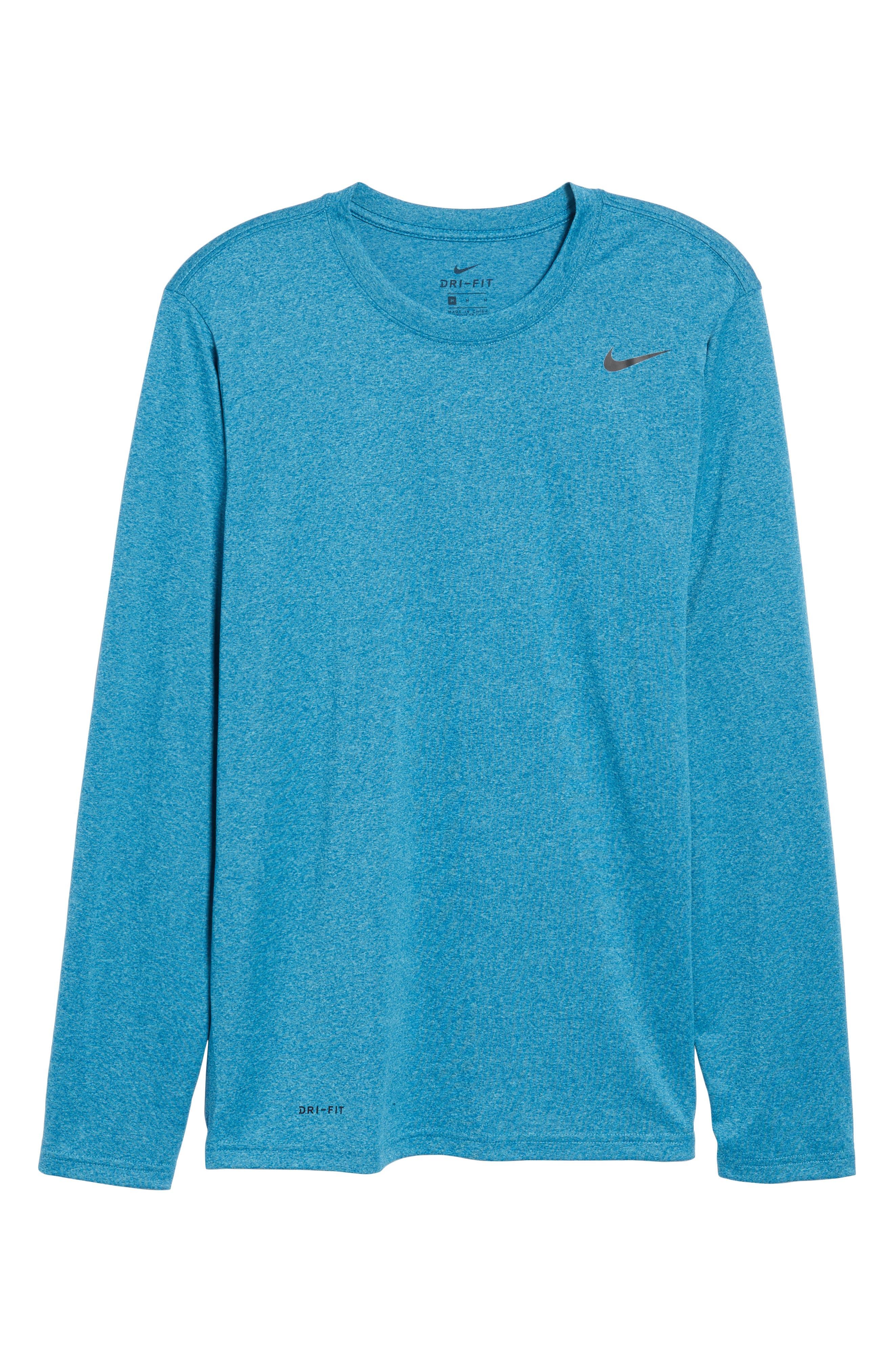 Alternate Image 6  - Nike 'Legend 2.0' Long Sleeve Dri-FIT Training T-Shirt