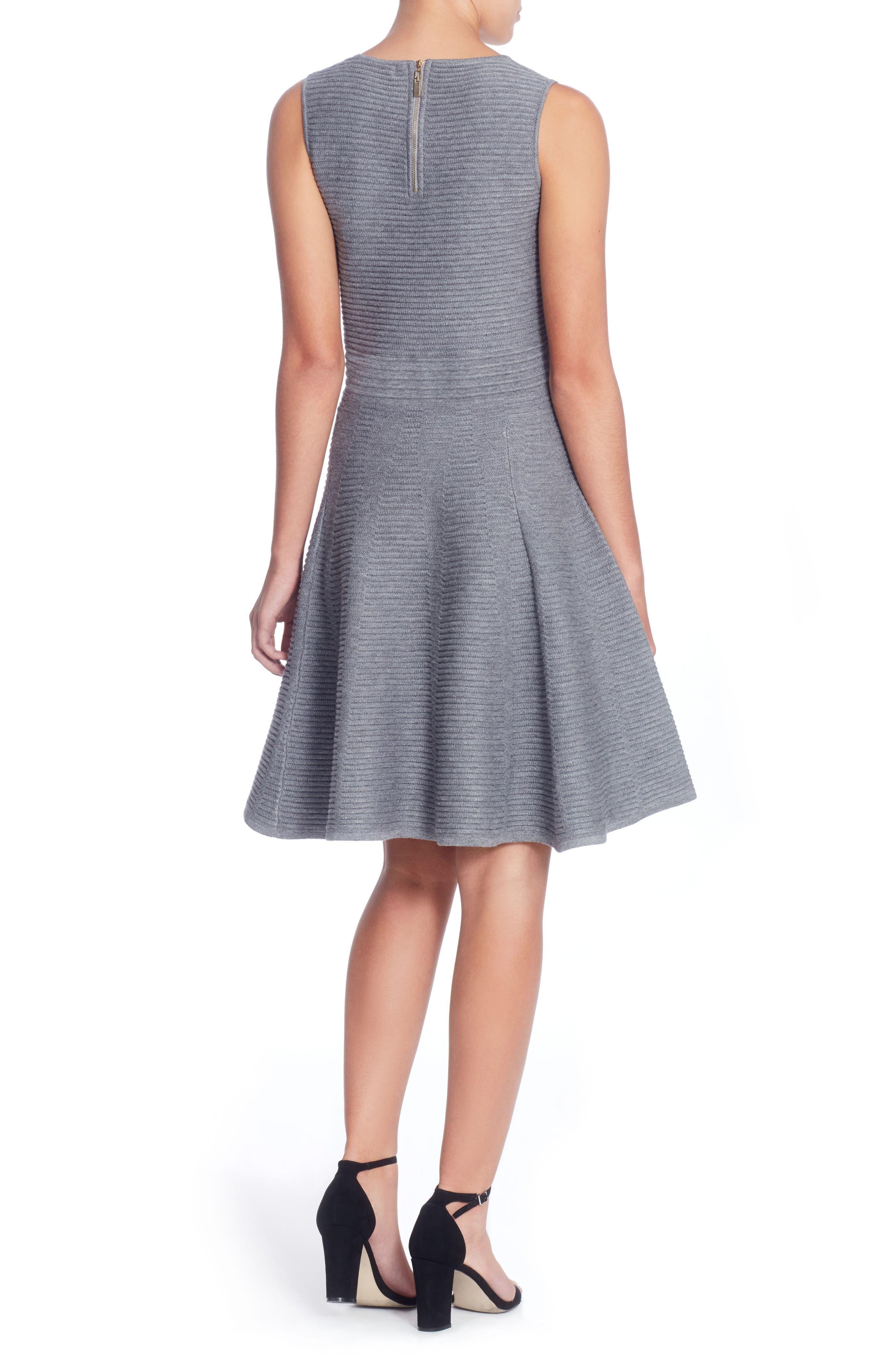 Trisha Fit & Flare Dress,                             Alternate thumbnail 2, color,                             Grey
