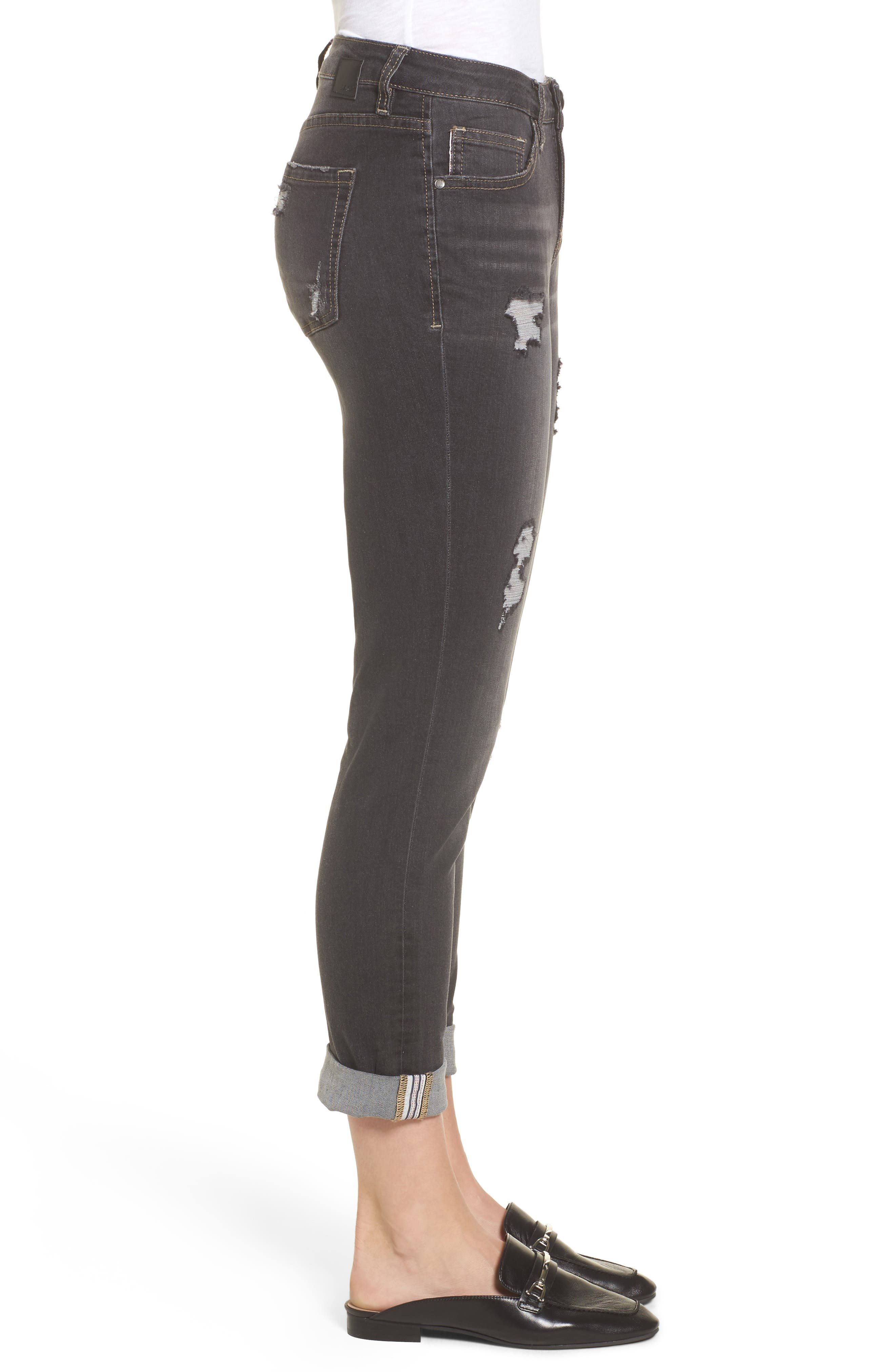 Alternate Image 3  - Jag Jeans Carter Cuffed Girlfriend Jeans