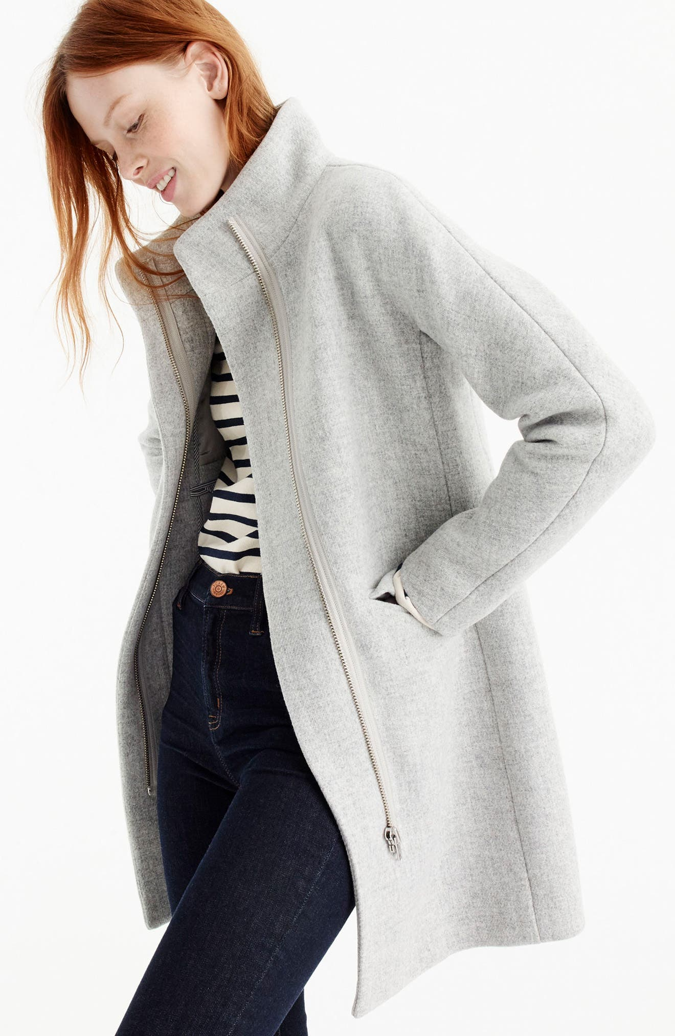 Alternate Image 6  - J.Crew Stadium Cloth Cocoon Coat (Regular & Petite)