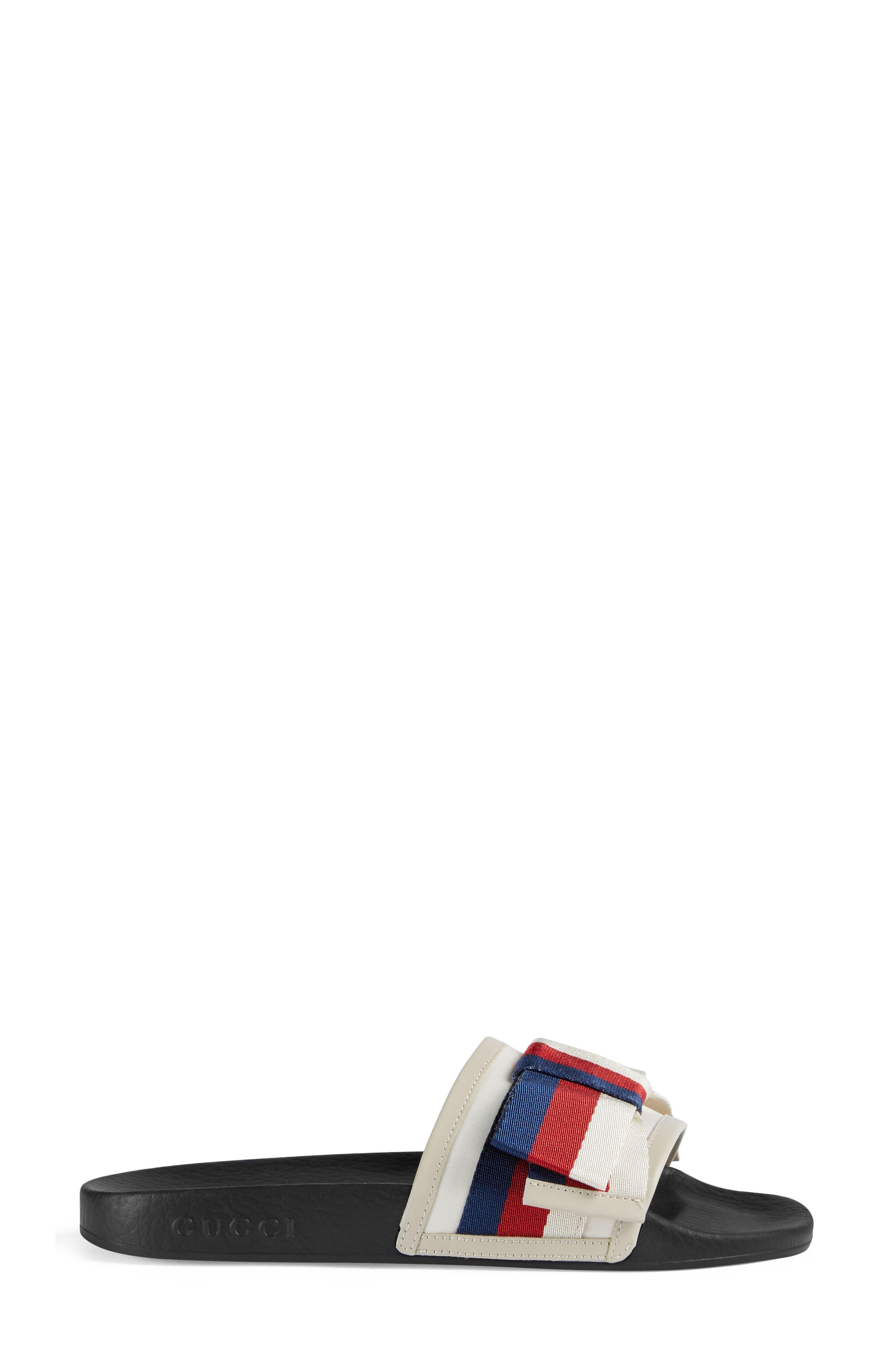 Pursuit Bow Slide Sandal,                             Alternate thumbnail 2, color,                             Ivory