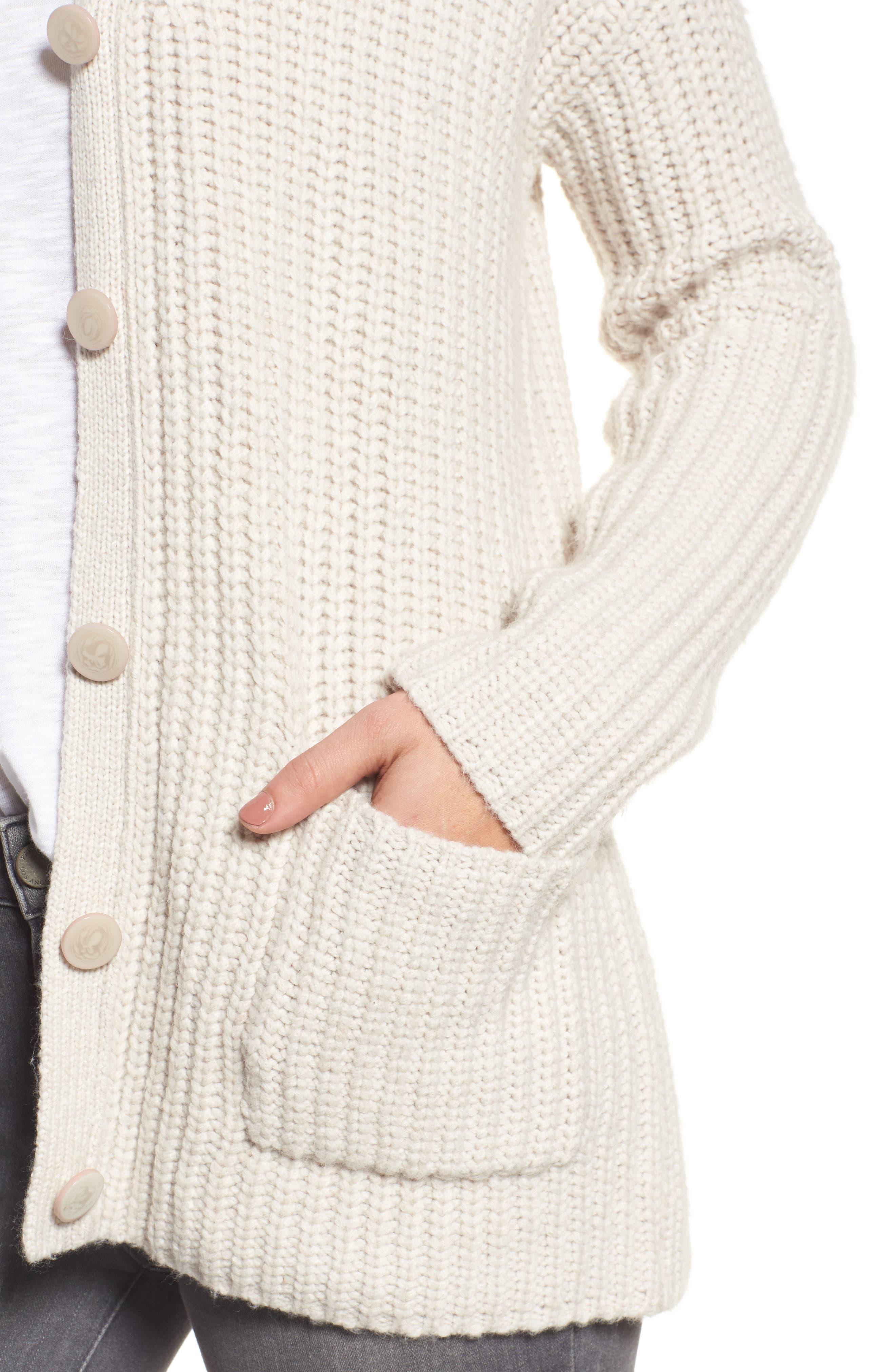 Alternate Image 4  - Velvet by Graham & Spencer Textured Button Cardigan