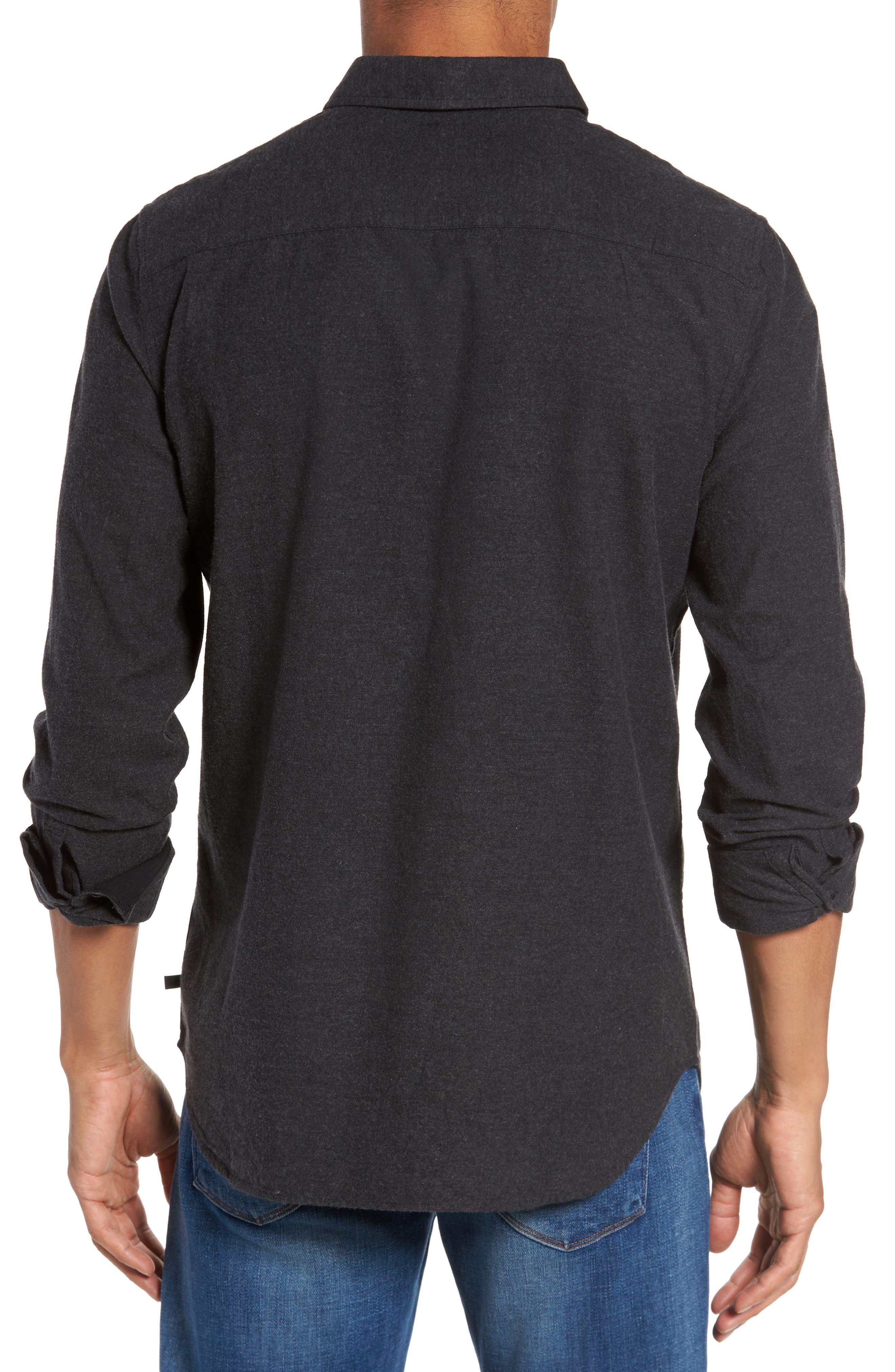 Caleb Slim Fit Sport Shirt,                             Alternate thumbnail 2, color,                             Heather Dark Charcoal