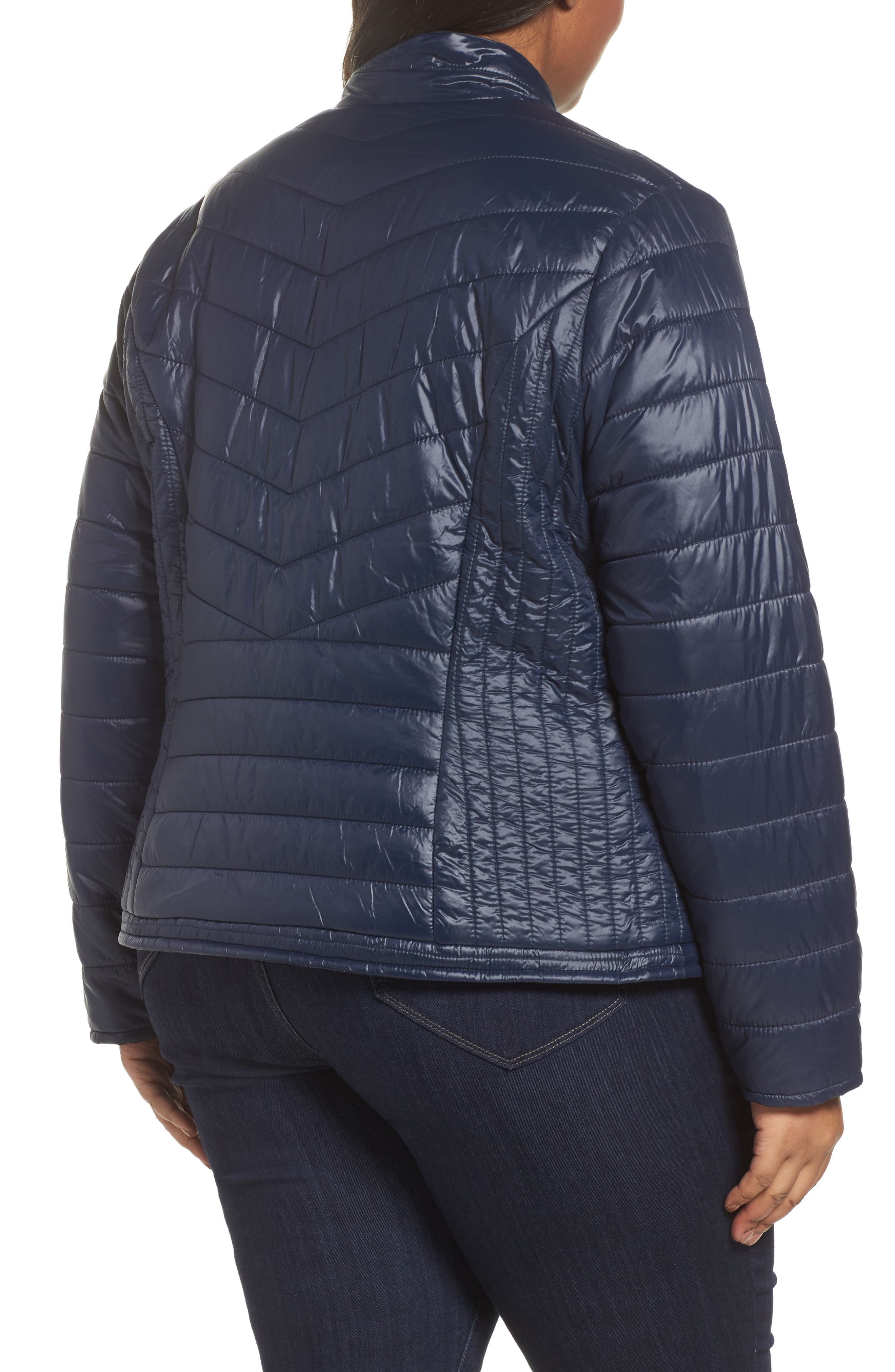 Alternate Image 2  - JUNAROSE Twisted Quilted Puffer Jacket (Plus Size)