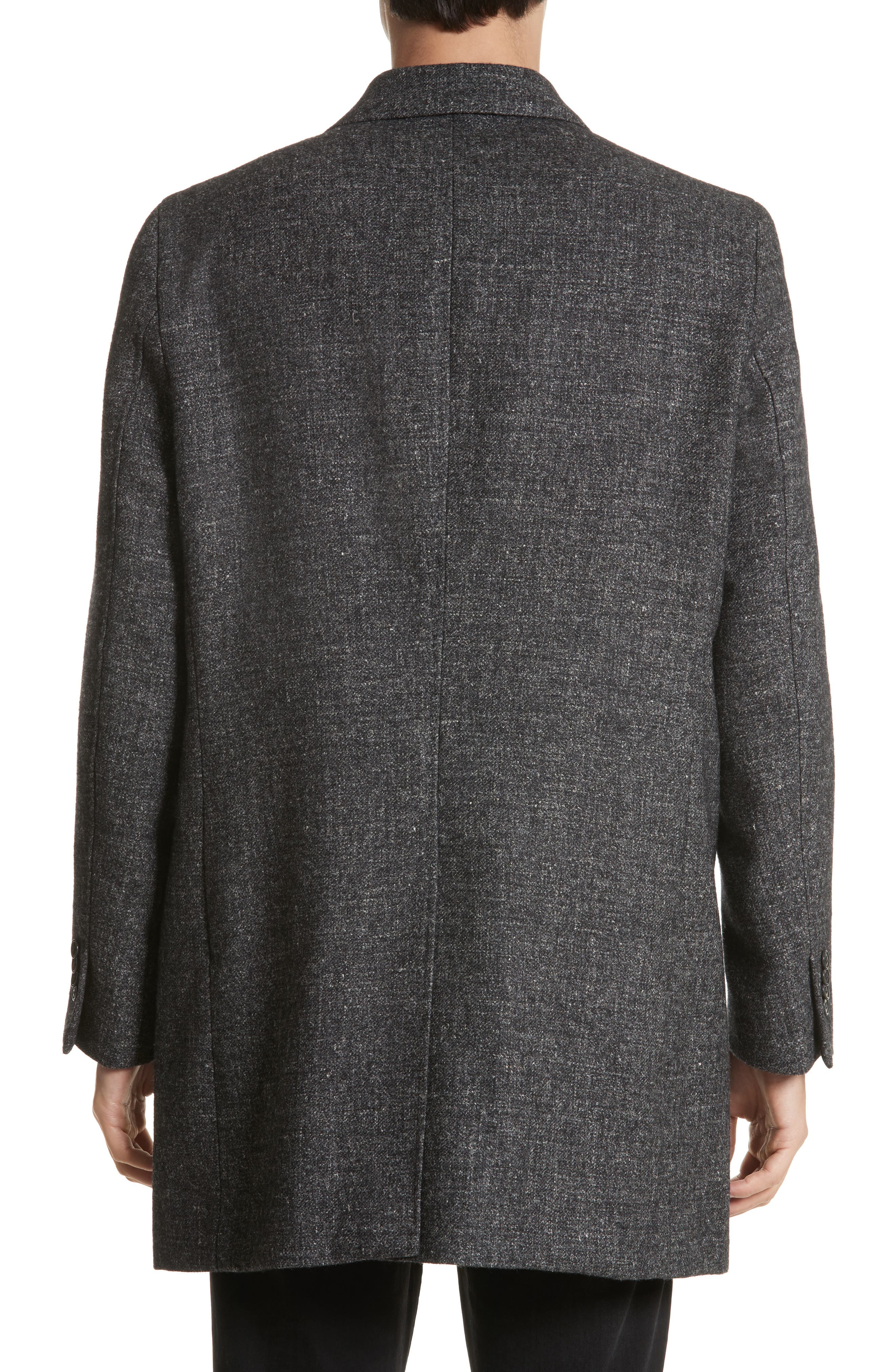 Walsh Wool Blend Topcoat,                             Alternate thumbnail 2, color,                             Charcoal