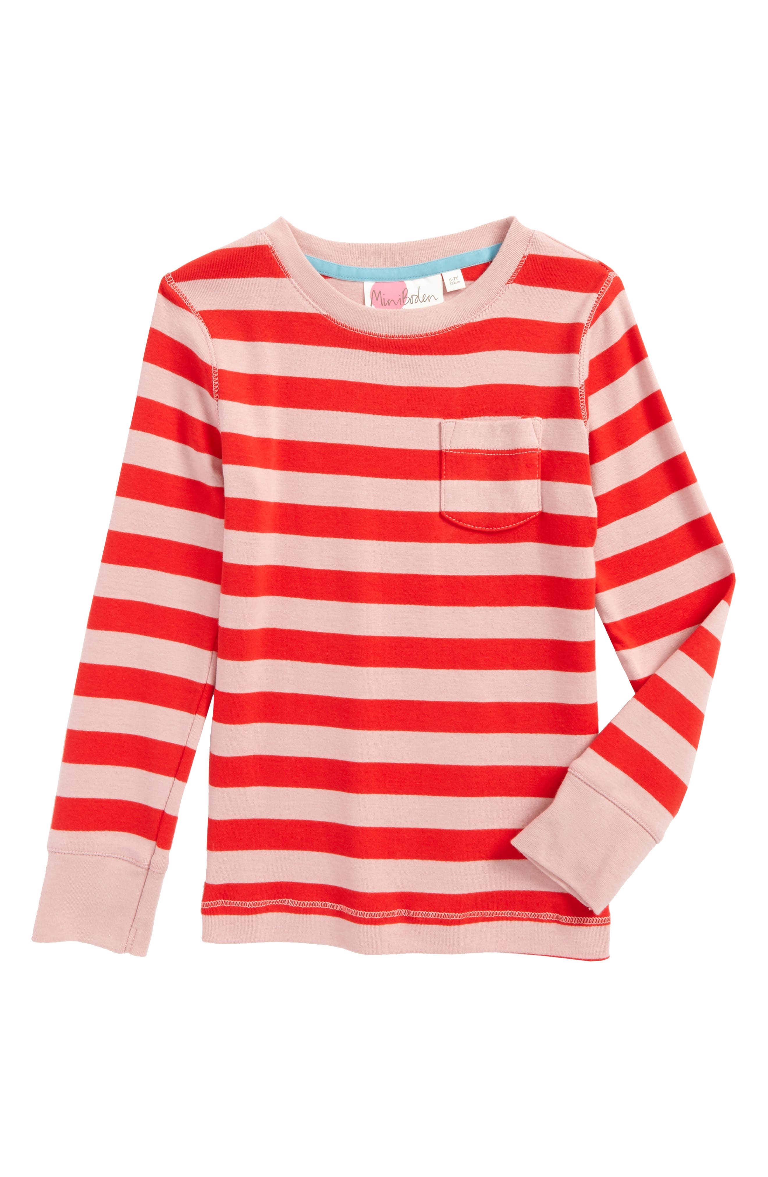 Everyday Tee,                         Main,                         color, Vintage Pink/ Ladybird Stripe