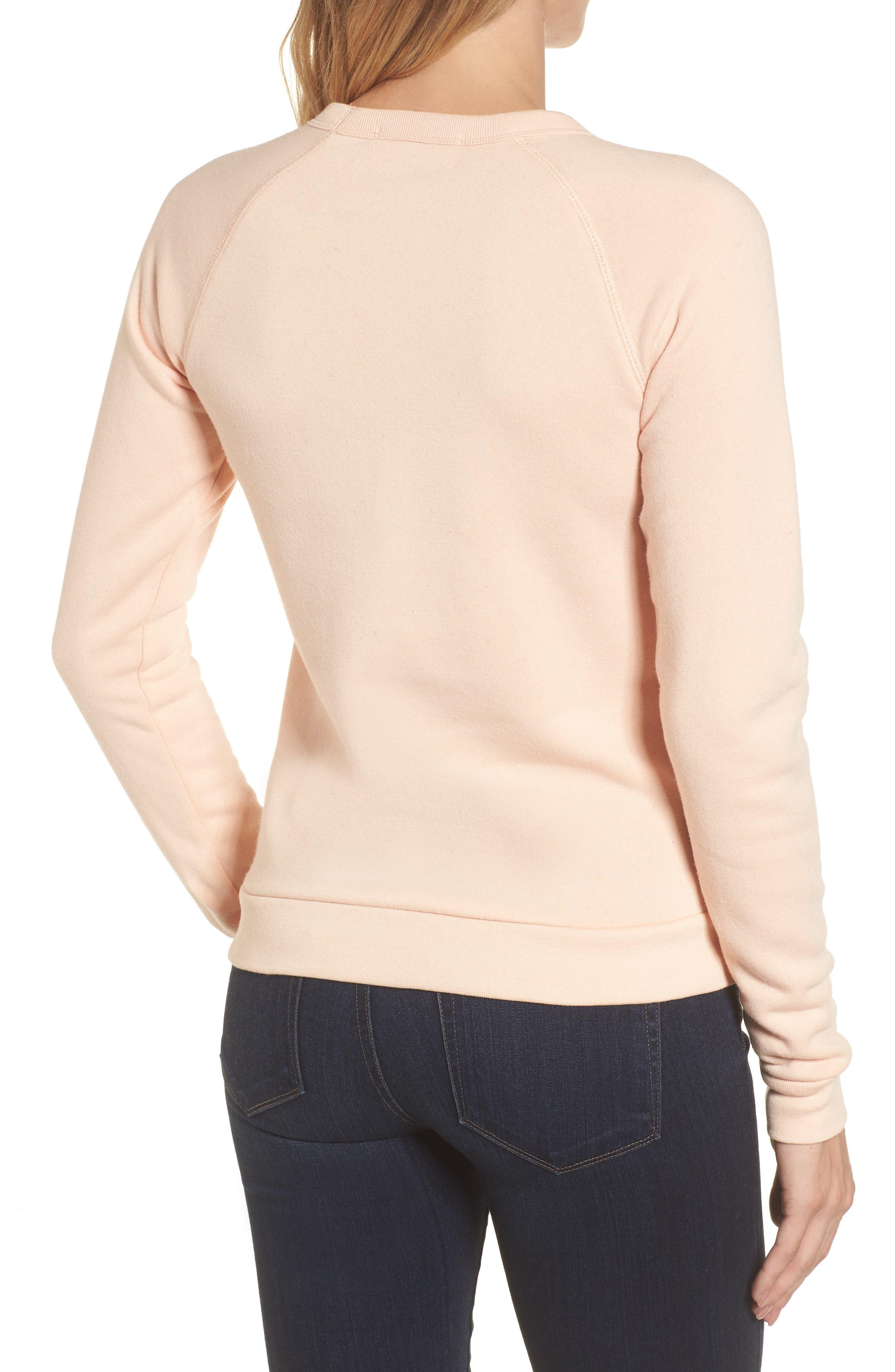 Material Girl Sweatshirt,                             Alternate thumbnail 2, color,                             Blush