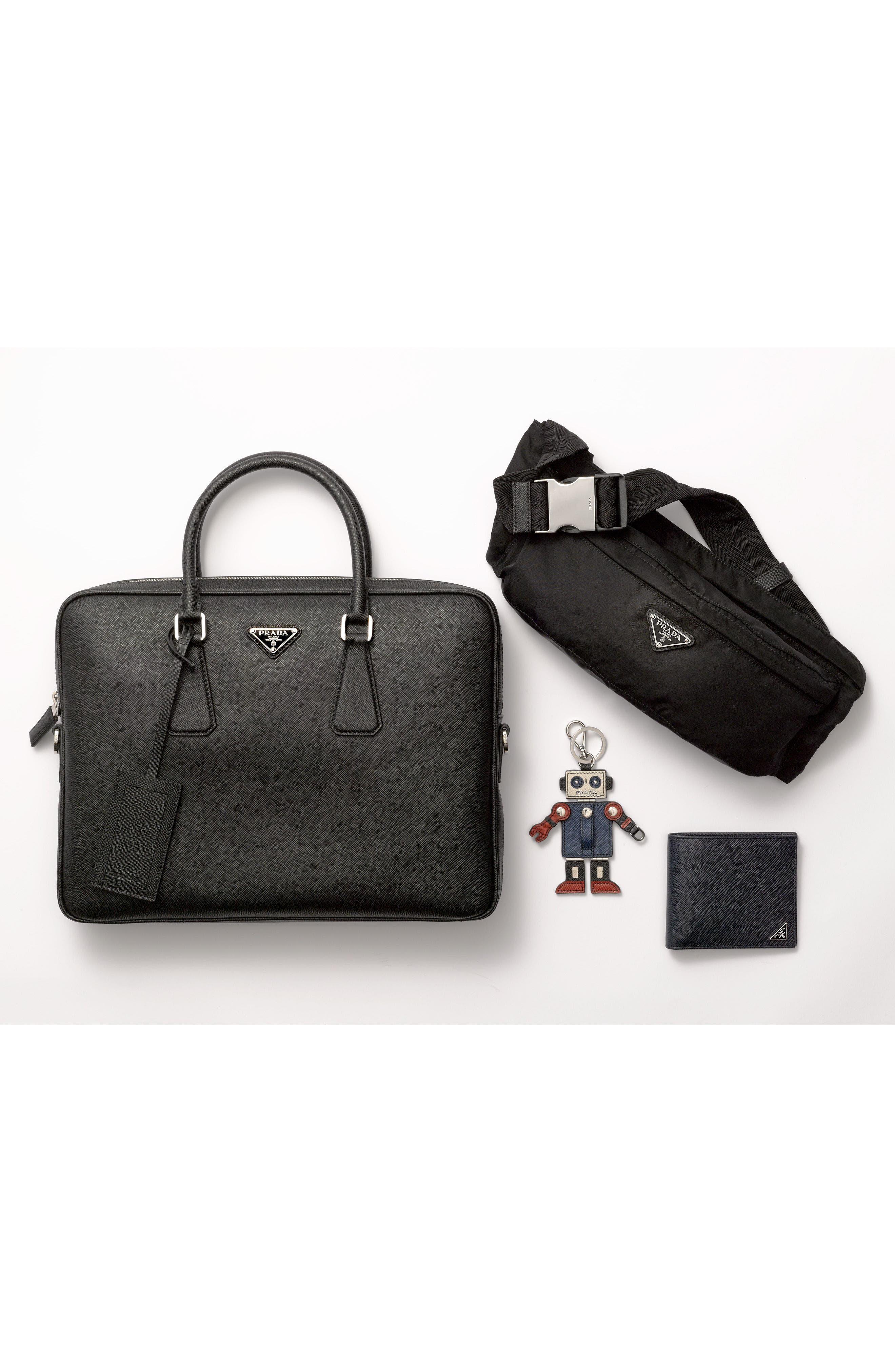Alternate Image 4  - Prada Saffiano and Crocodile Leather Wallet
