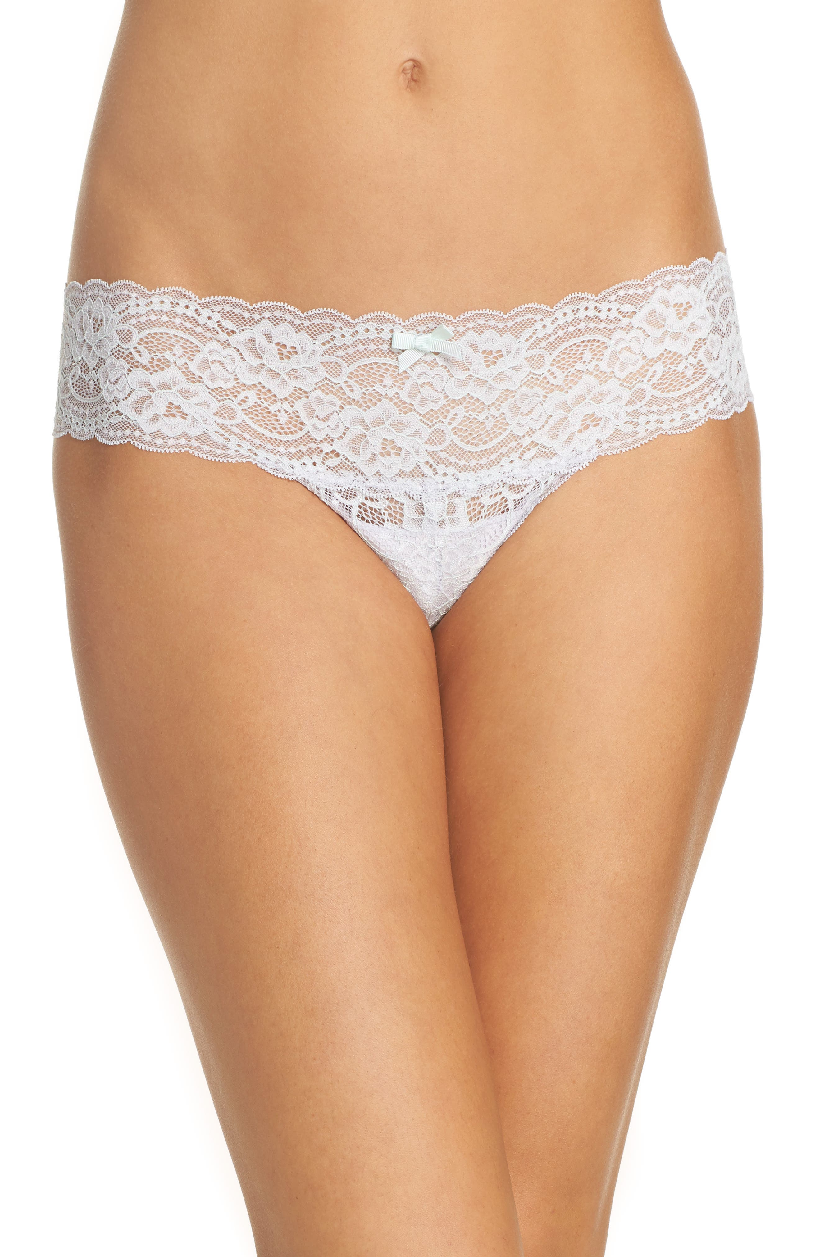 Main Image - Skarlett Blue 'Obsessed' Lace Thong (3 for $45)