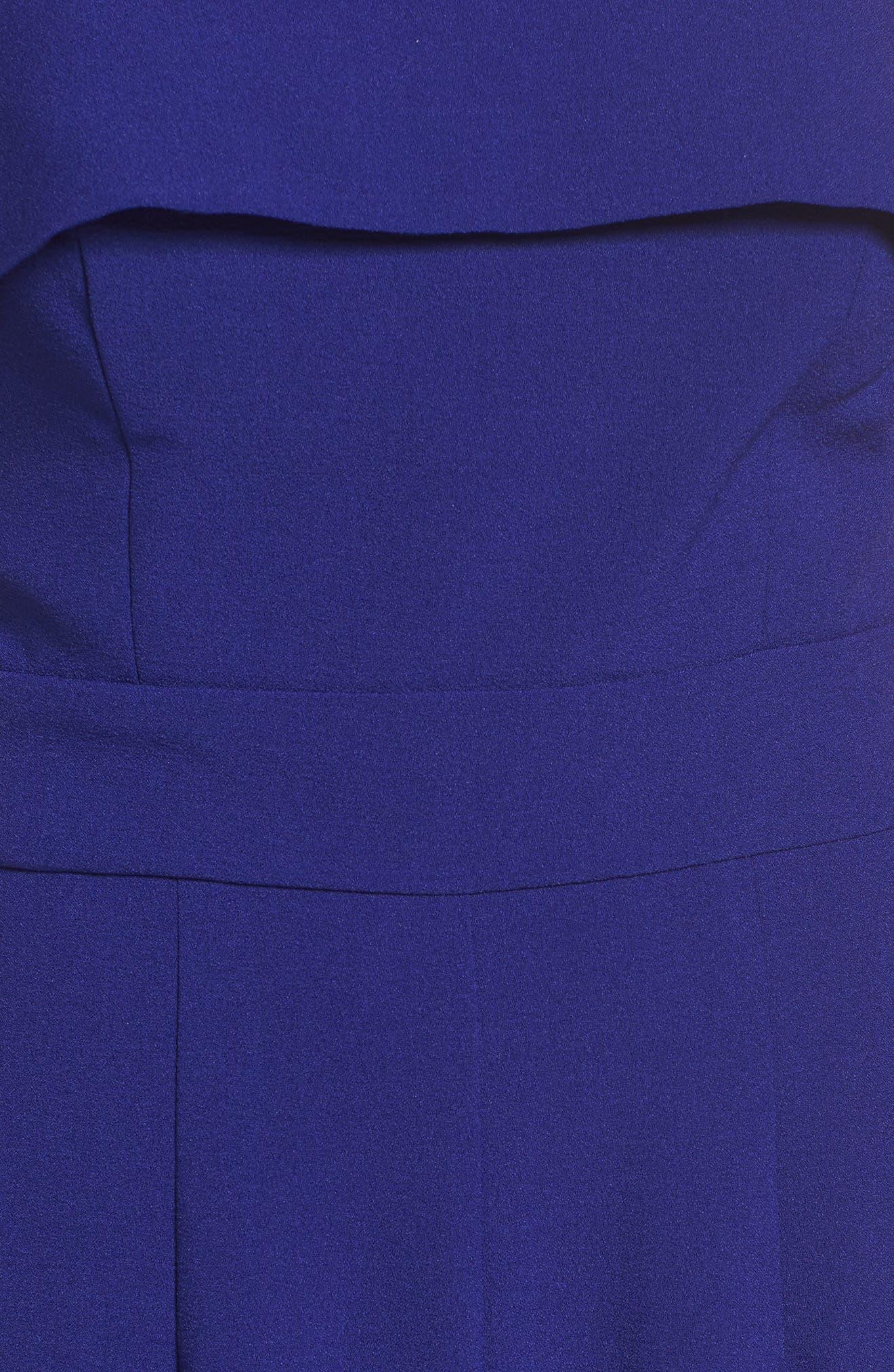 Strapless Jumpsuit,                             Alternate thumbnail 6, color,                             Cobalt