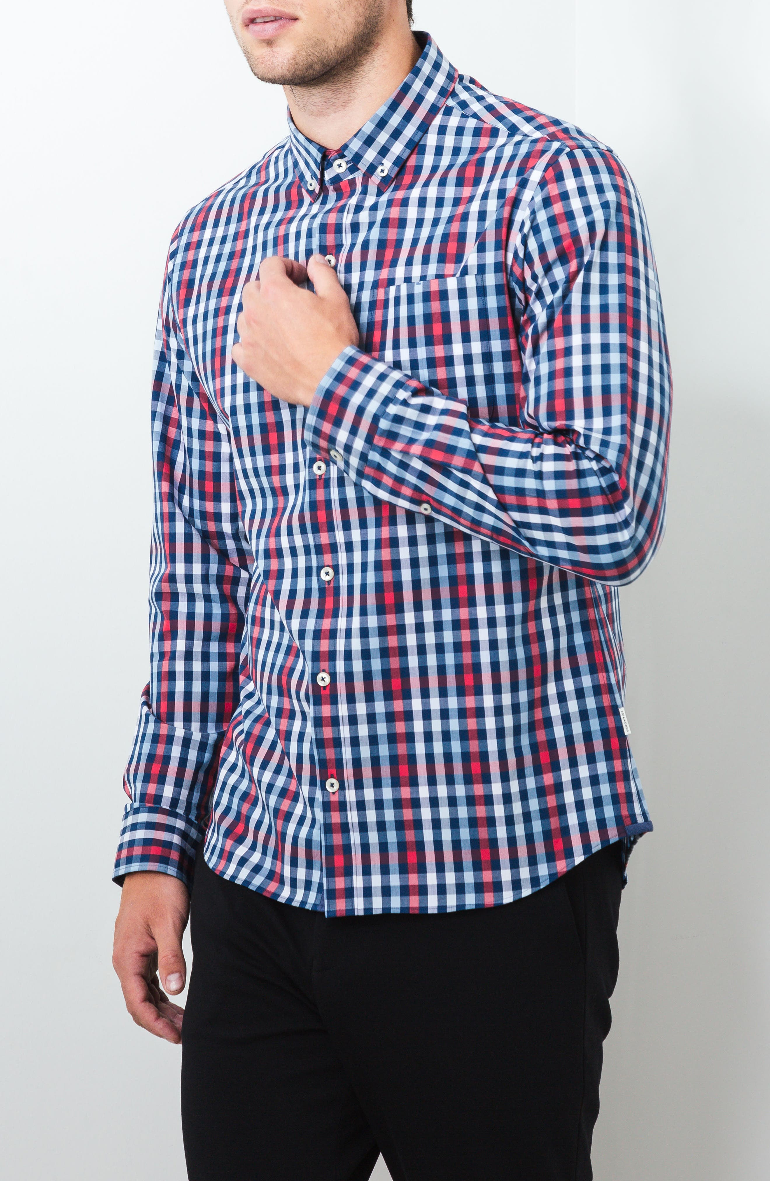 Year One Woven Shirt,                             Alternate thumbnail 4, color,                             Navy