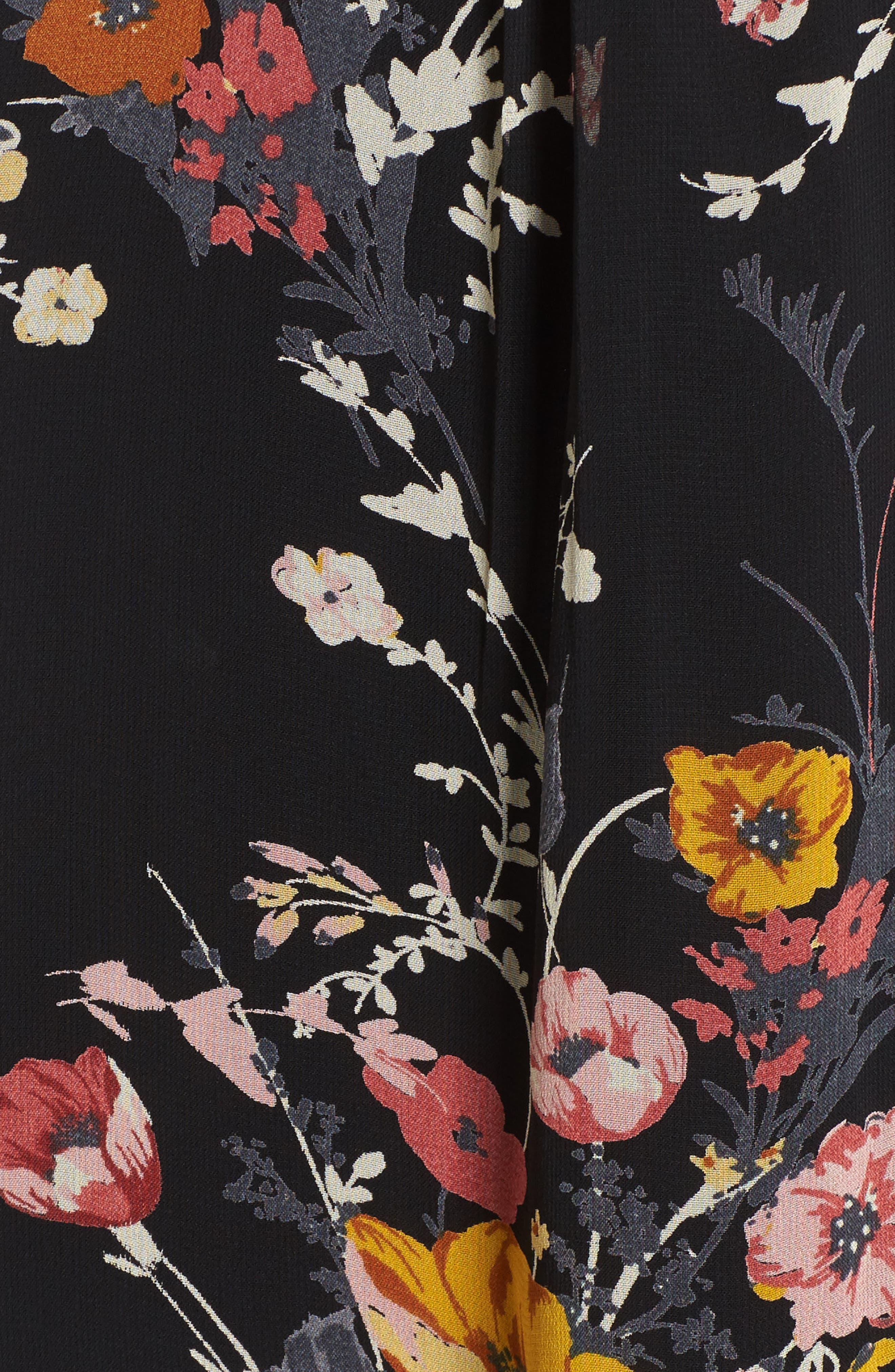 Alternate Image 5  - Band of Gypsies Cold Shoulder Floral Dress