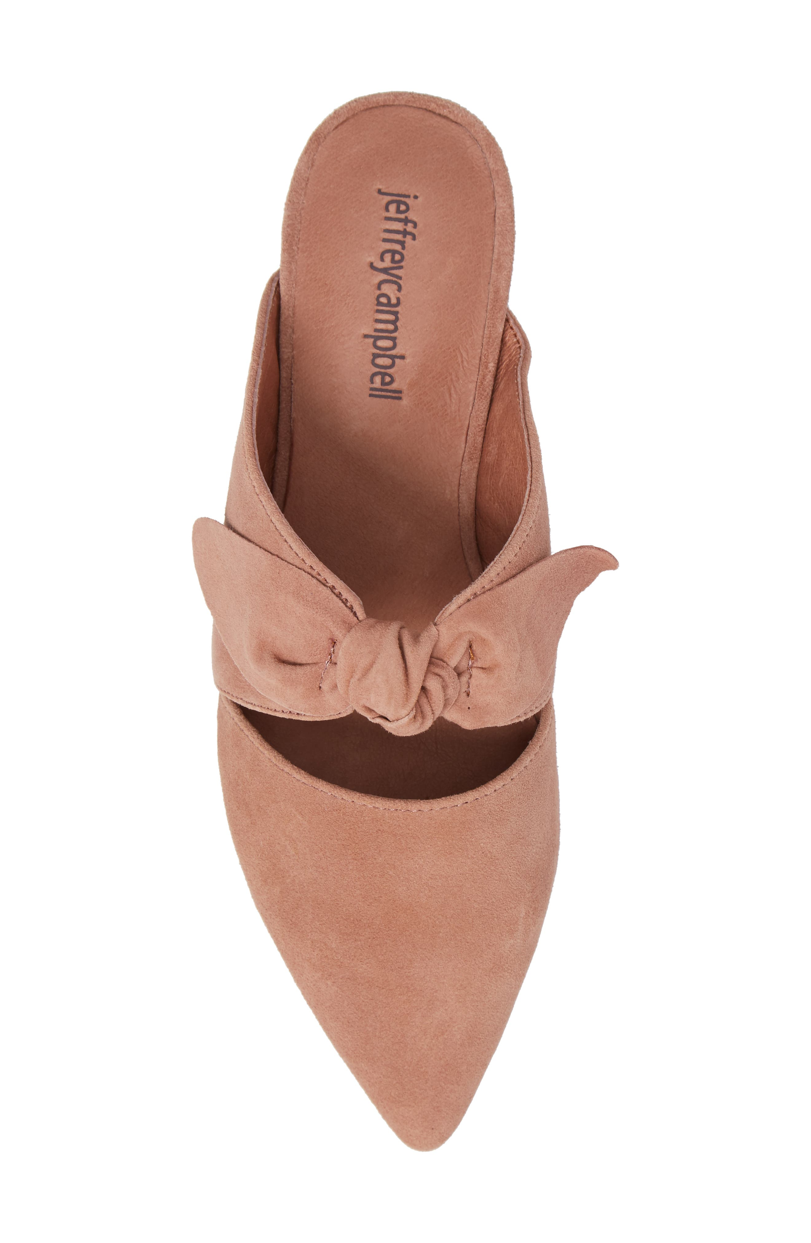 Charlin Bow Mule,                             Alternate thumbnail 5, color,                             Blush Suede
