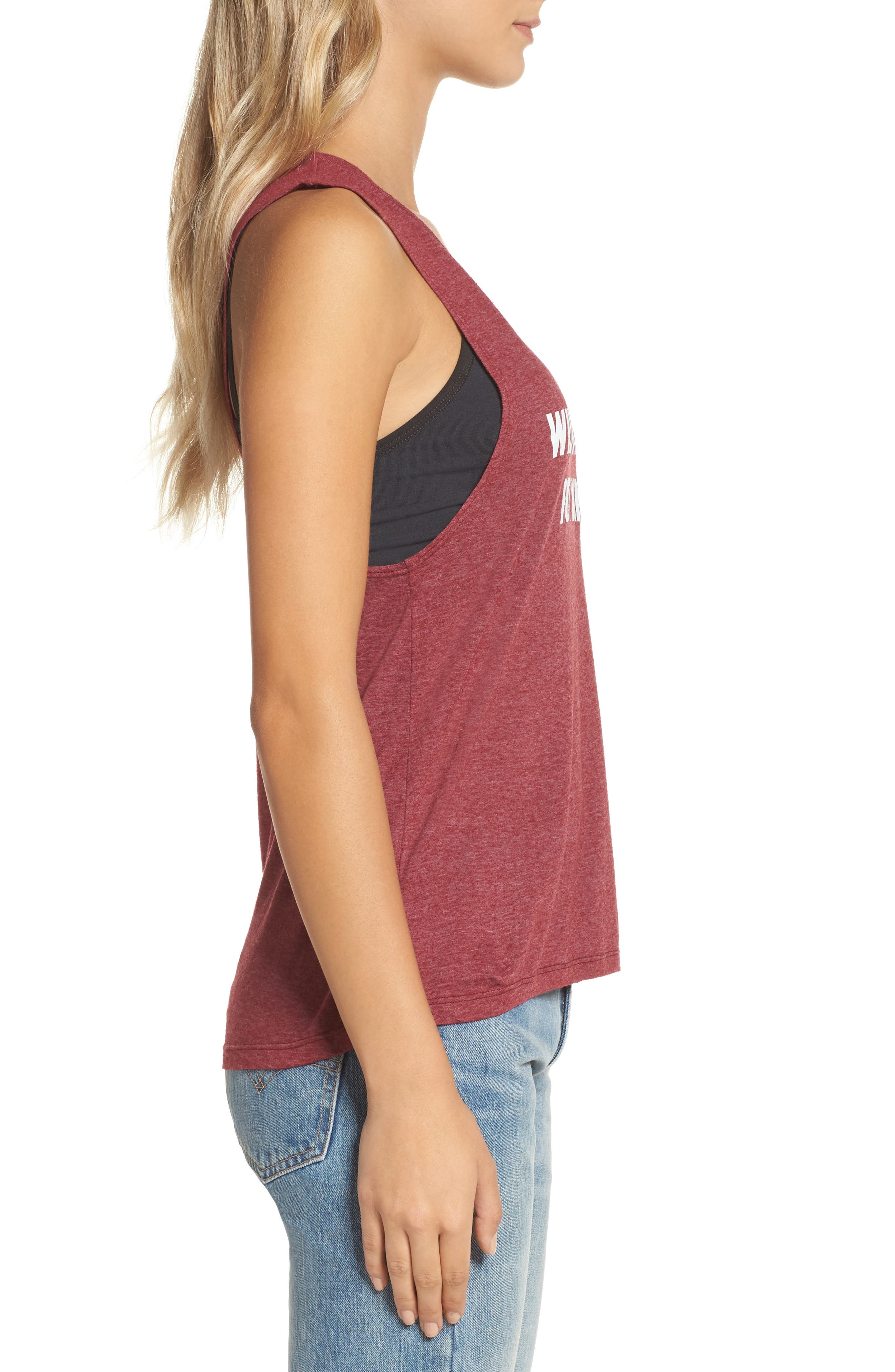 Will Workout for Wine Tank,                             Alternate thumbnail 3, color,                             Maroon