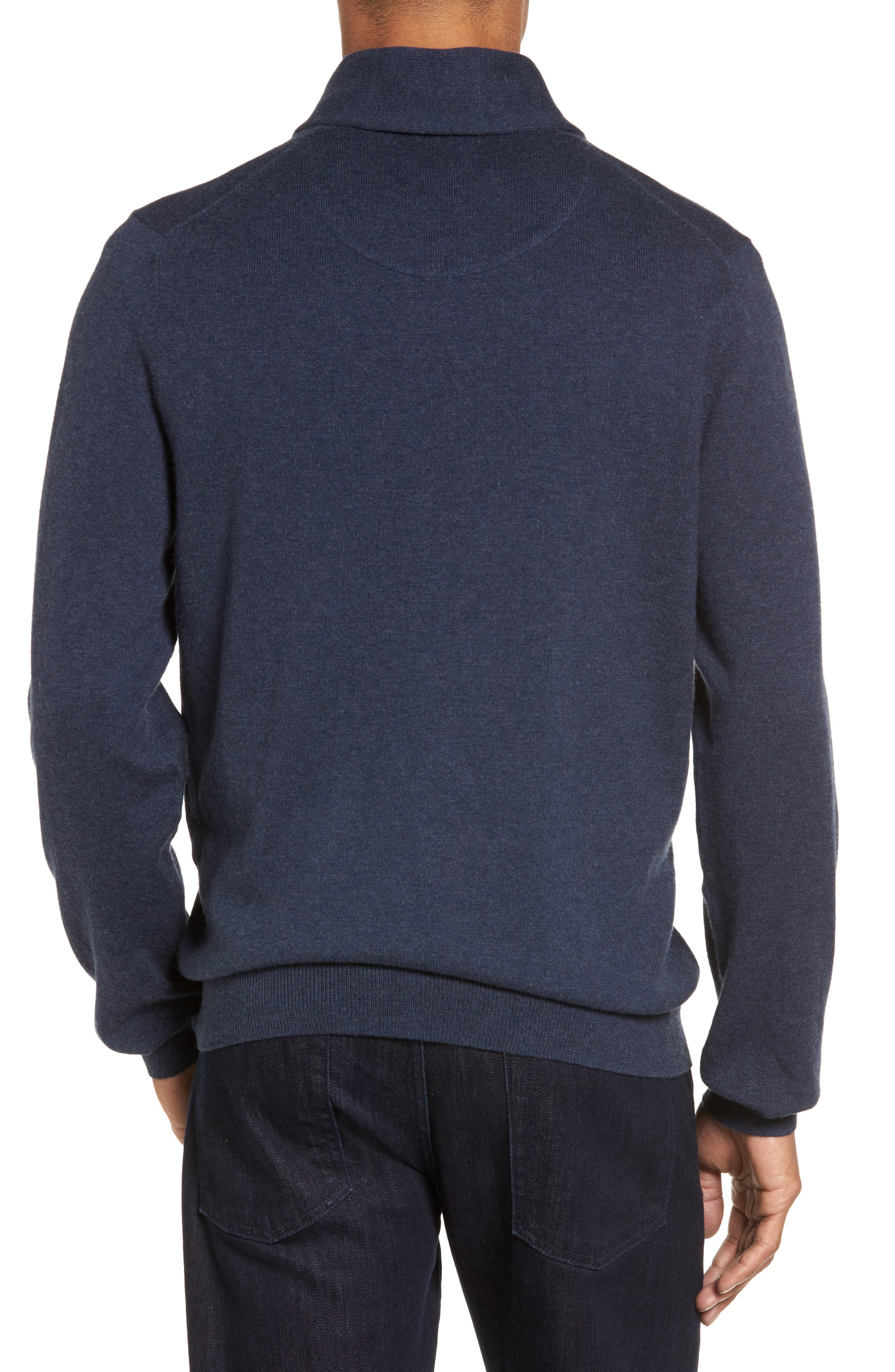 Alternate Image 2  - Nordstrom Men's Shop Cotton & Cashmere Shawl Collar Sweater (Regular & Tall)