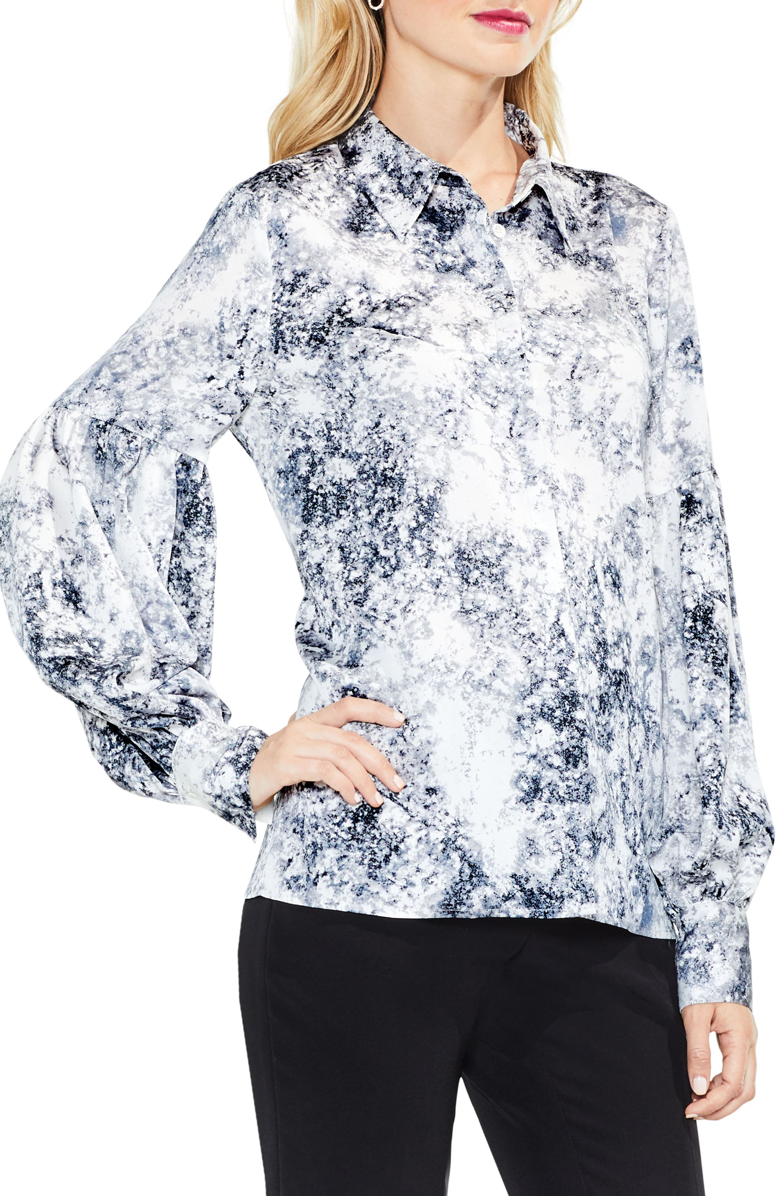 Speckle Atmosphere Top,                         Main,                         color, Antique White