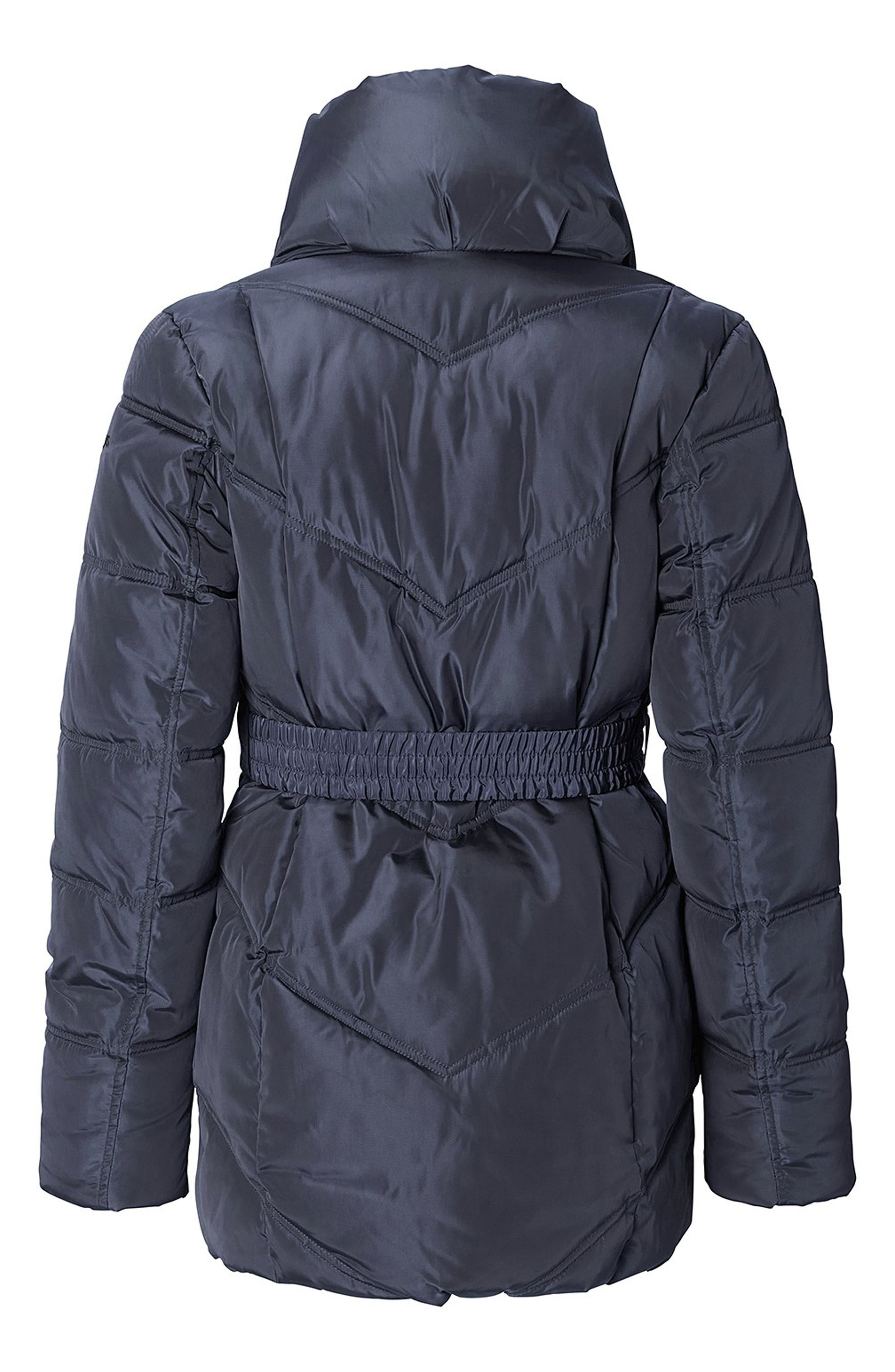 Lise Two-Way Quilted Maternity Jacket,                             Alternate thumbnail 3, color,                             Dark Blue