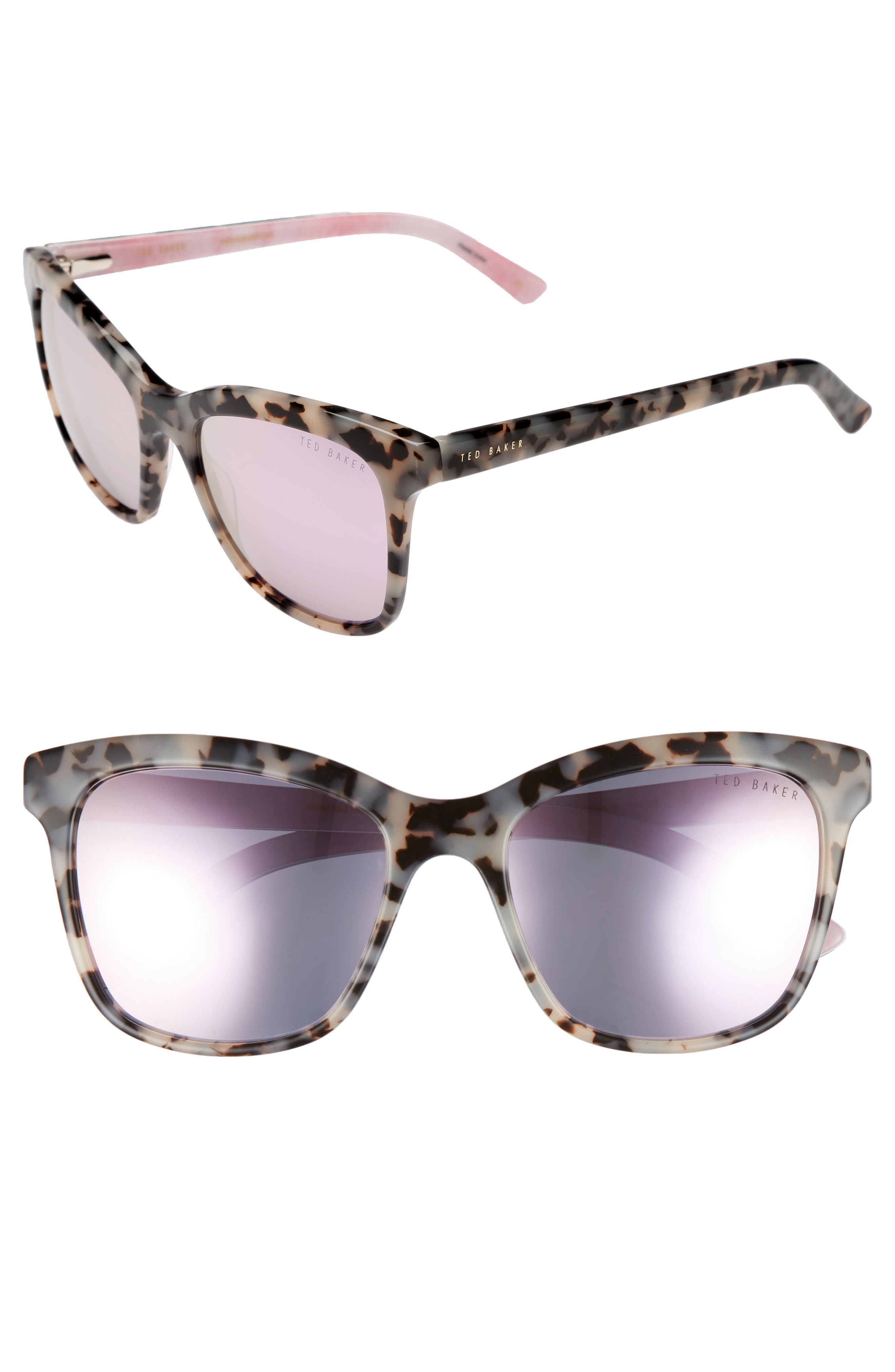Ted Baker London 55mm Cat Eye Sunglasses