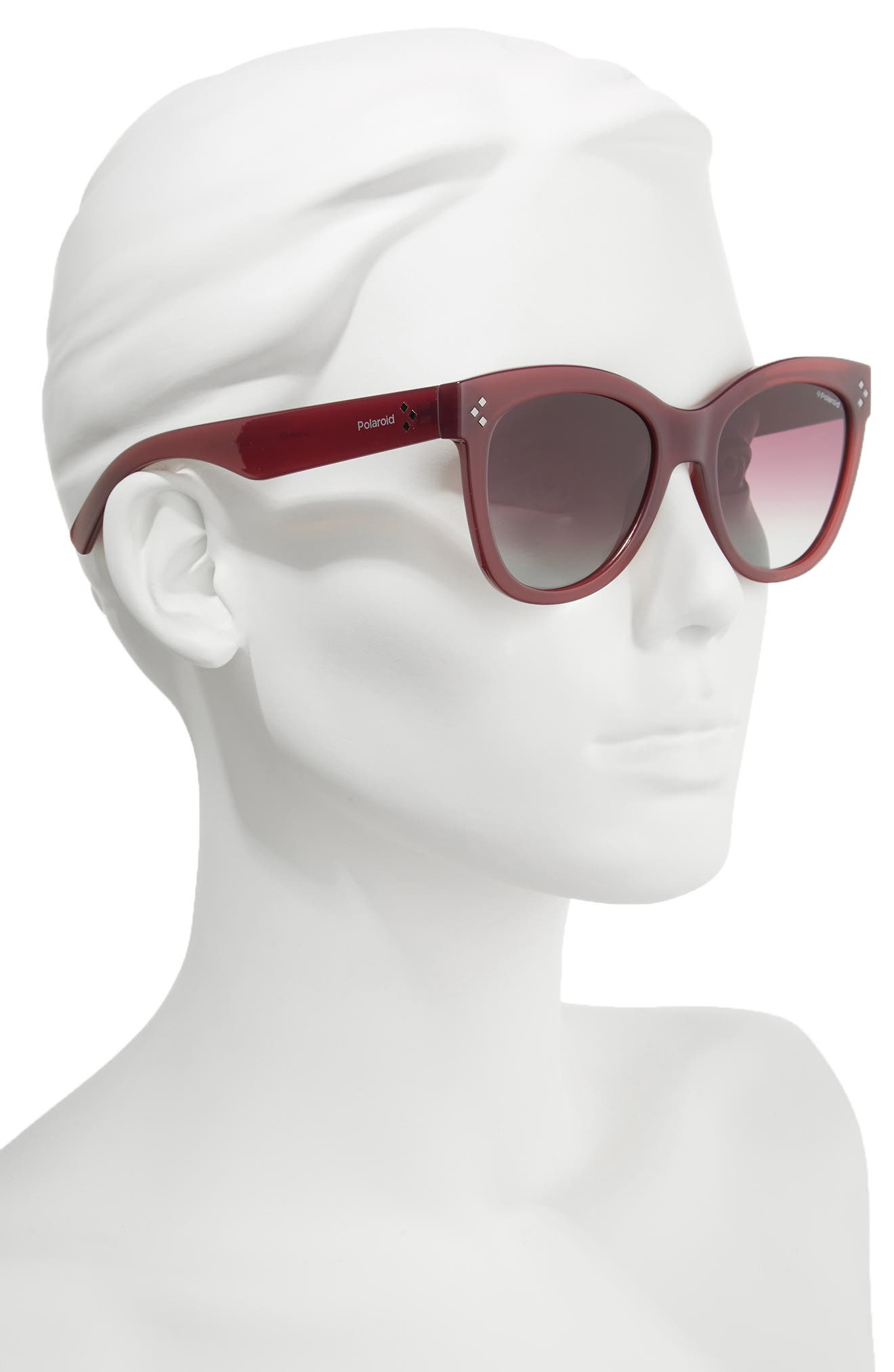 54mm Polarized Sunglasses,                             Alternate thumbnail 3, color,                             Red