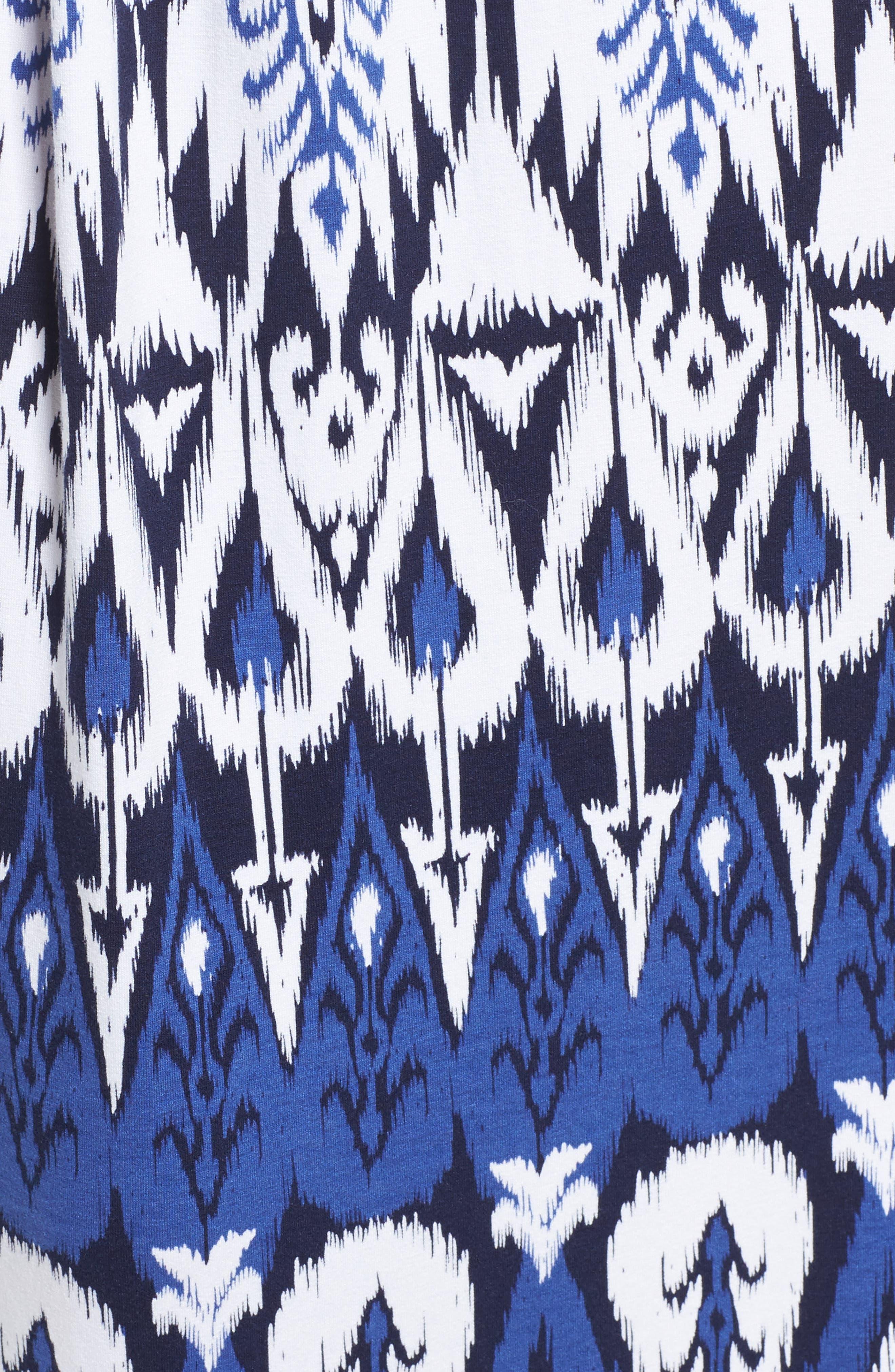 Pineapple Ikat Cover-Up Bandeau Maxi Dress,                             Alternate thumbnail 5, color,                             Dark Sanibel