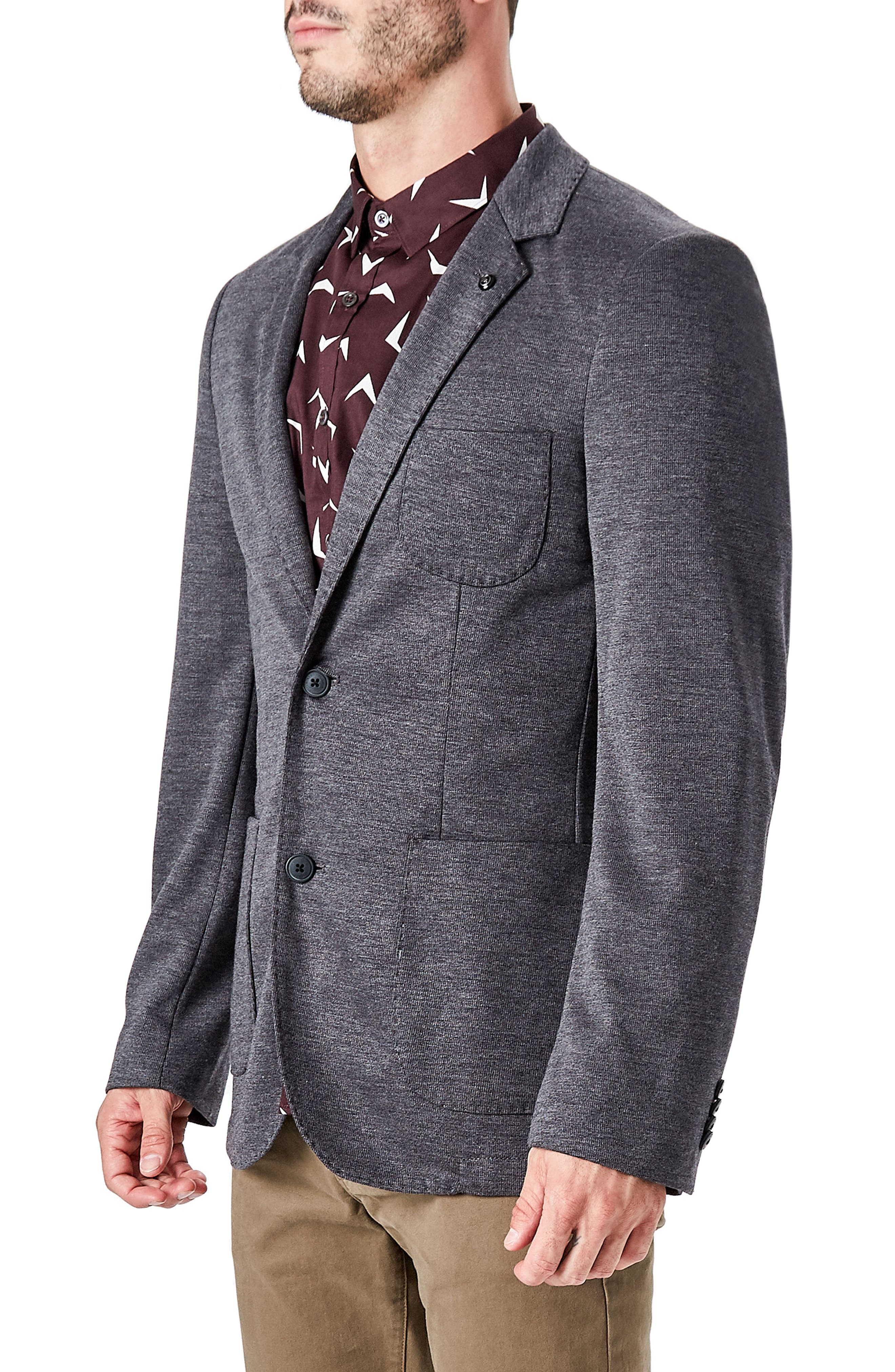 Massa Casual Blazer,                             Alternate thumbnail 3, color,                             Charcoal