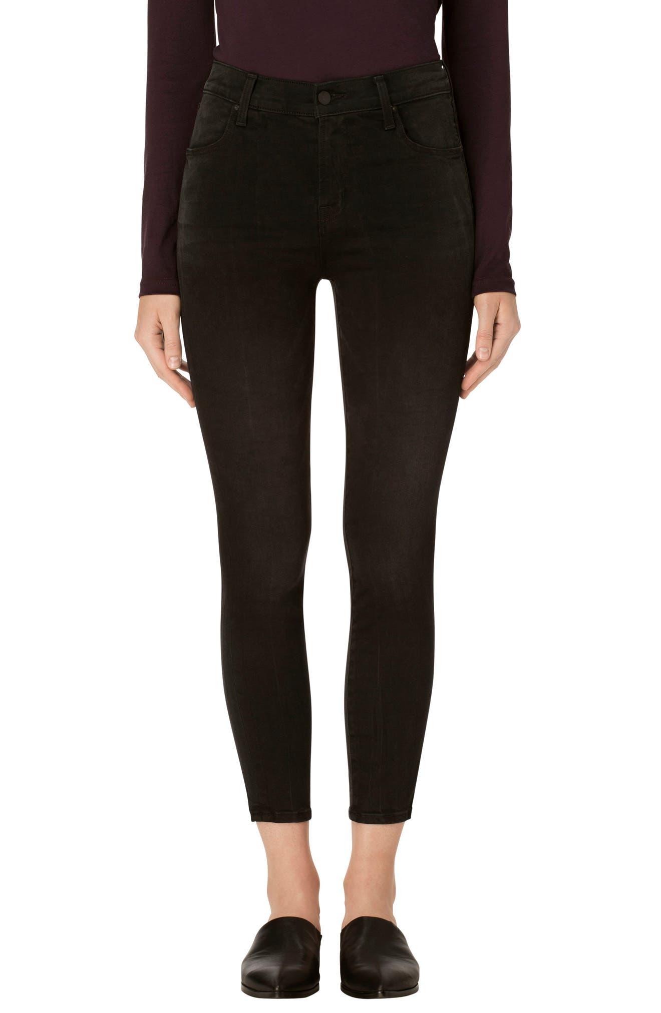J Brand Alana High Waist Crop Skinny Jeans (Dark Sanctify)