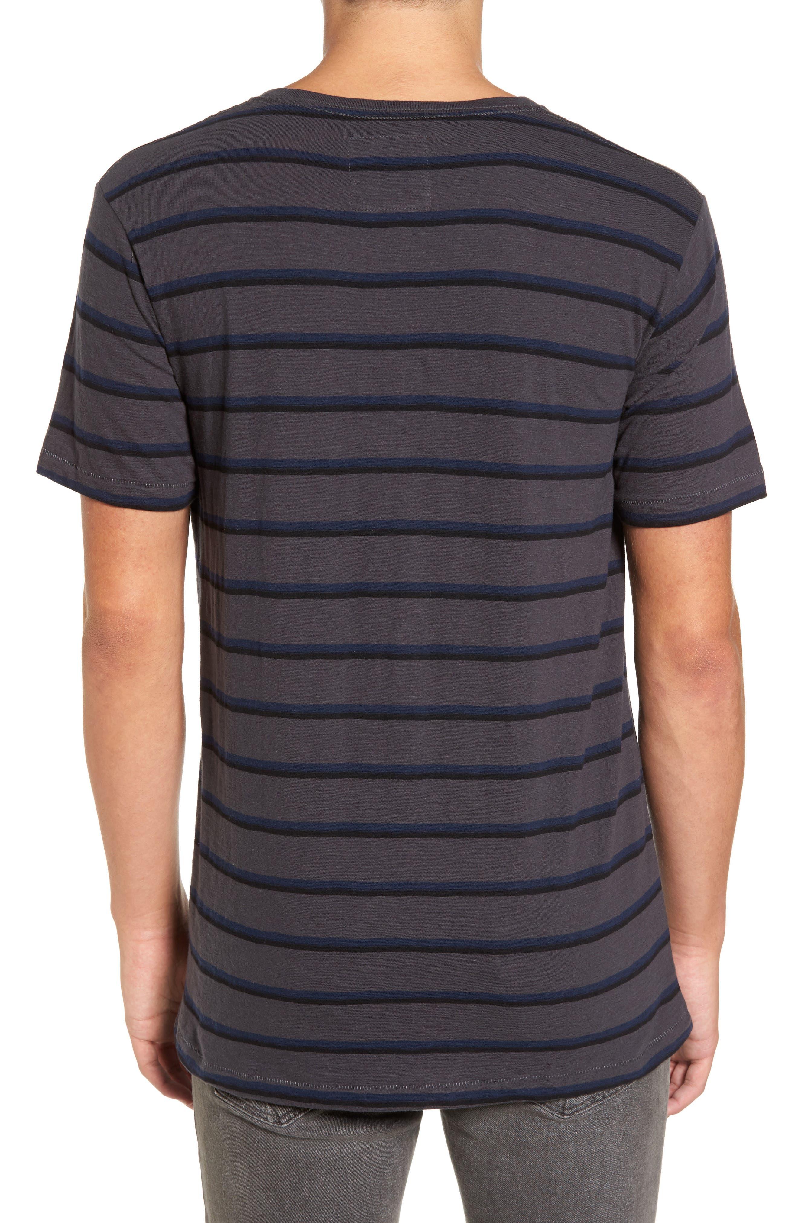 B. Thankful Striped T-Shirt,                             Alternate thumbnail 2, color,                             Black Stripe