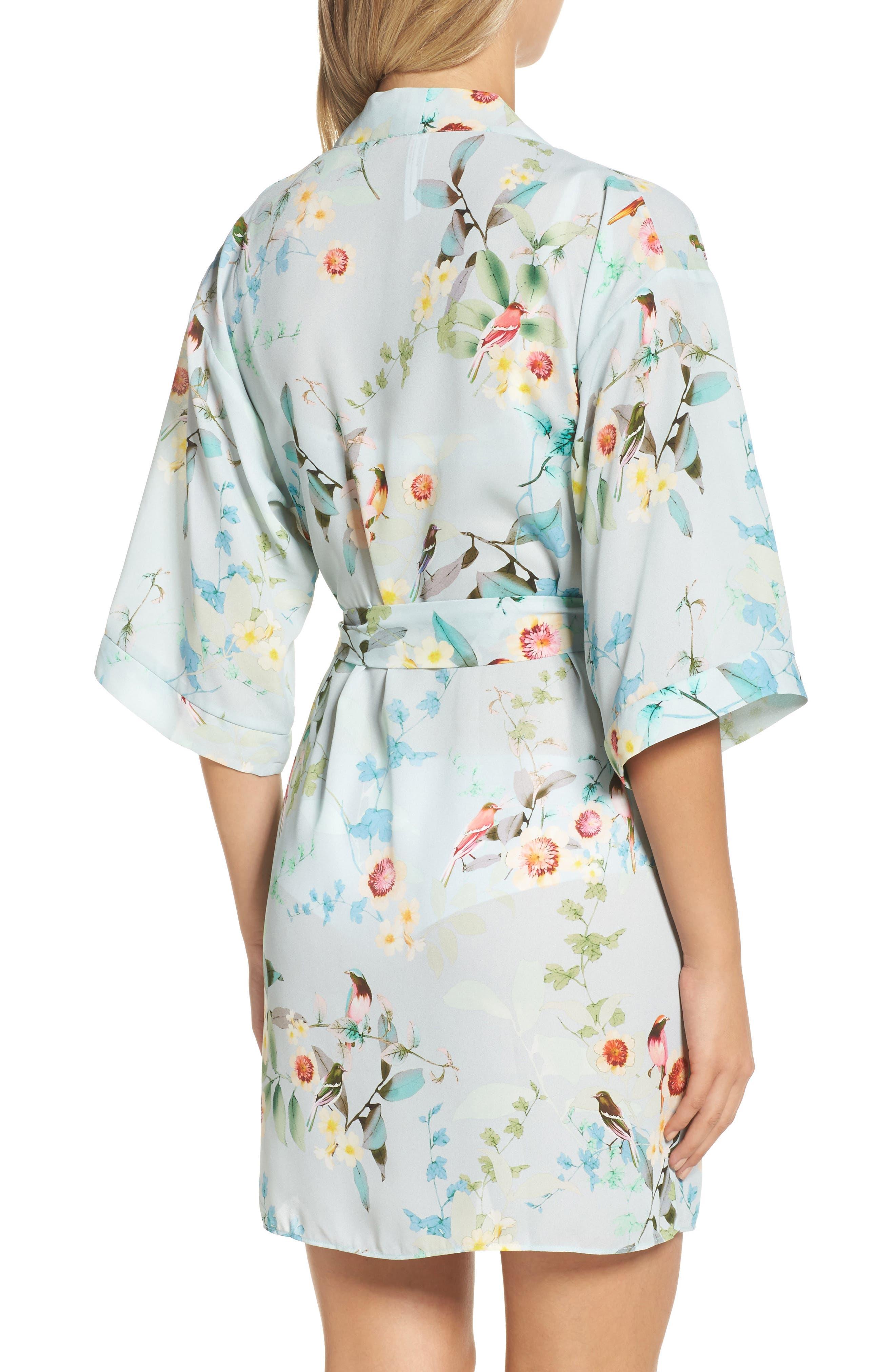 Alternate Image 2  - Flora Nikrooz Alison Floral Kimono Robe