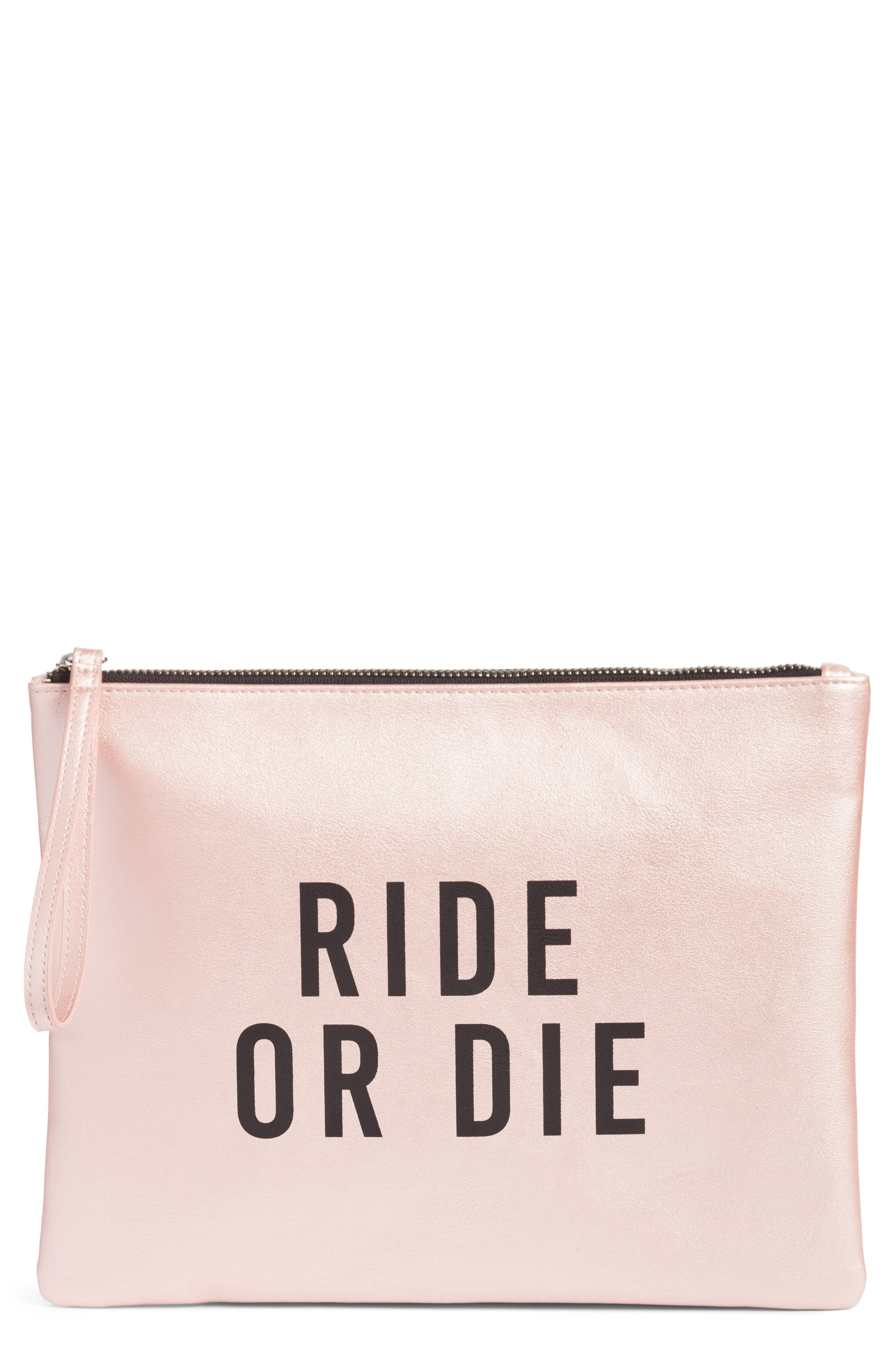 T-Shirt & Jeans Ride or Die Charging Clutch