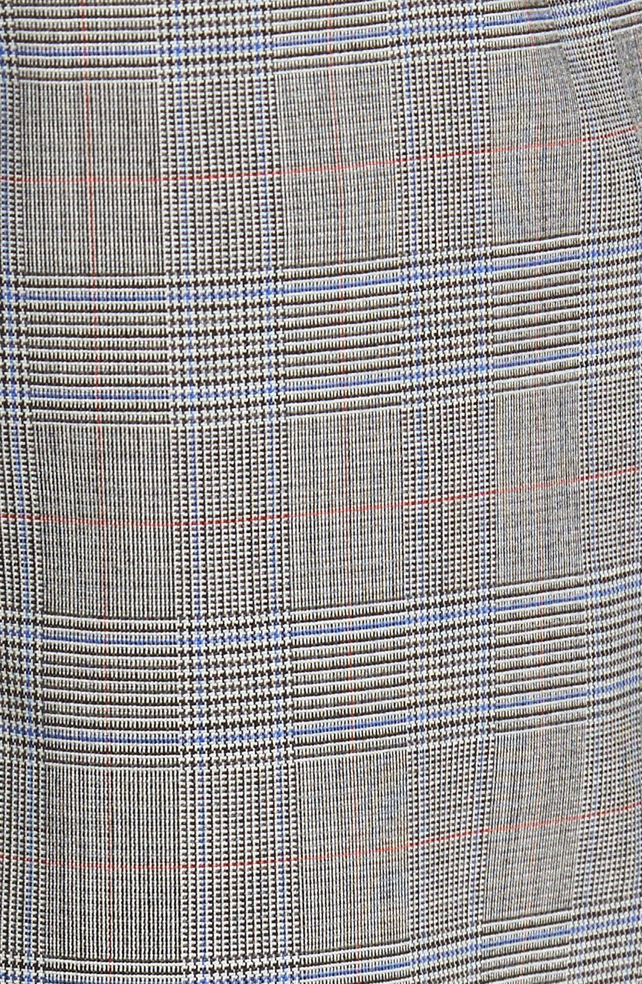 Benso Flat Front Plaid Wool Blend Trousers,                             Alternate thumbnail 5, color,                             Open Grey