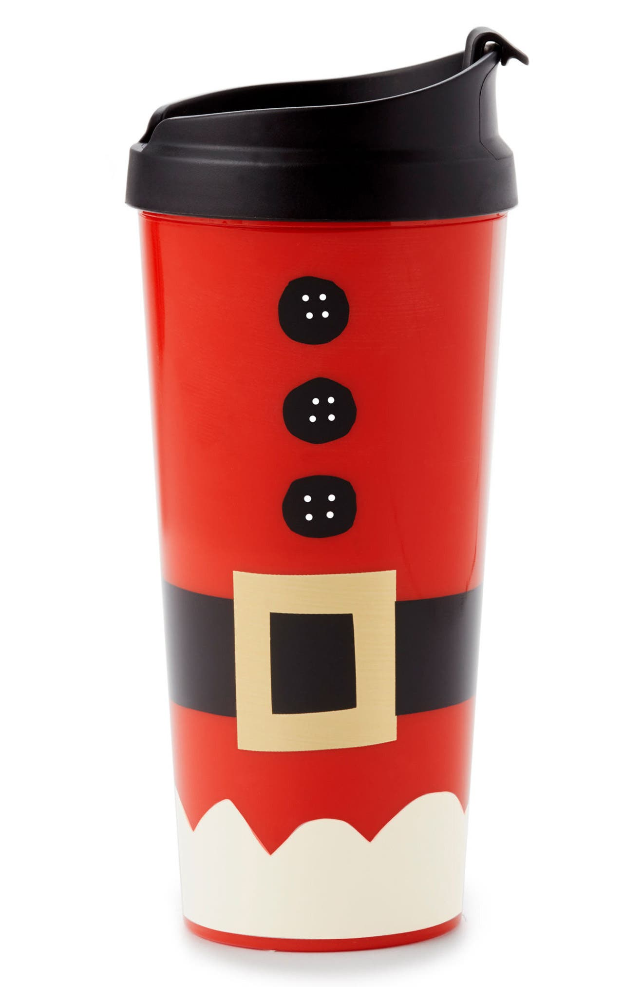 holiday village thermal mug,                             Main thumbnail 1, color,                             Red