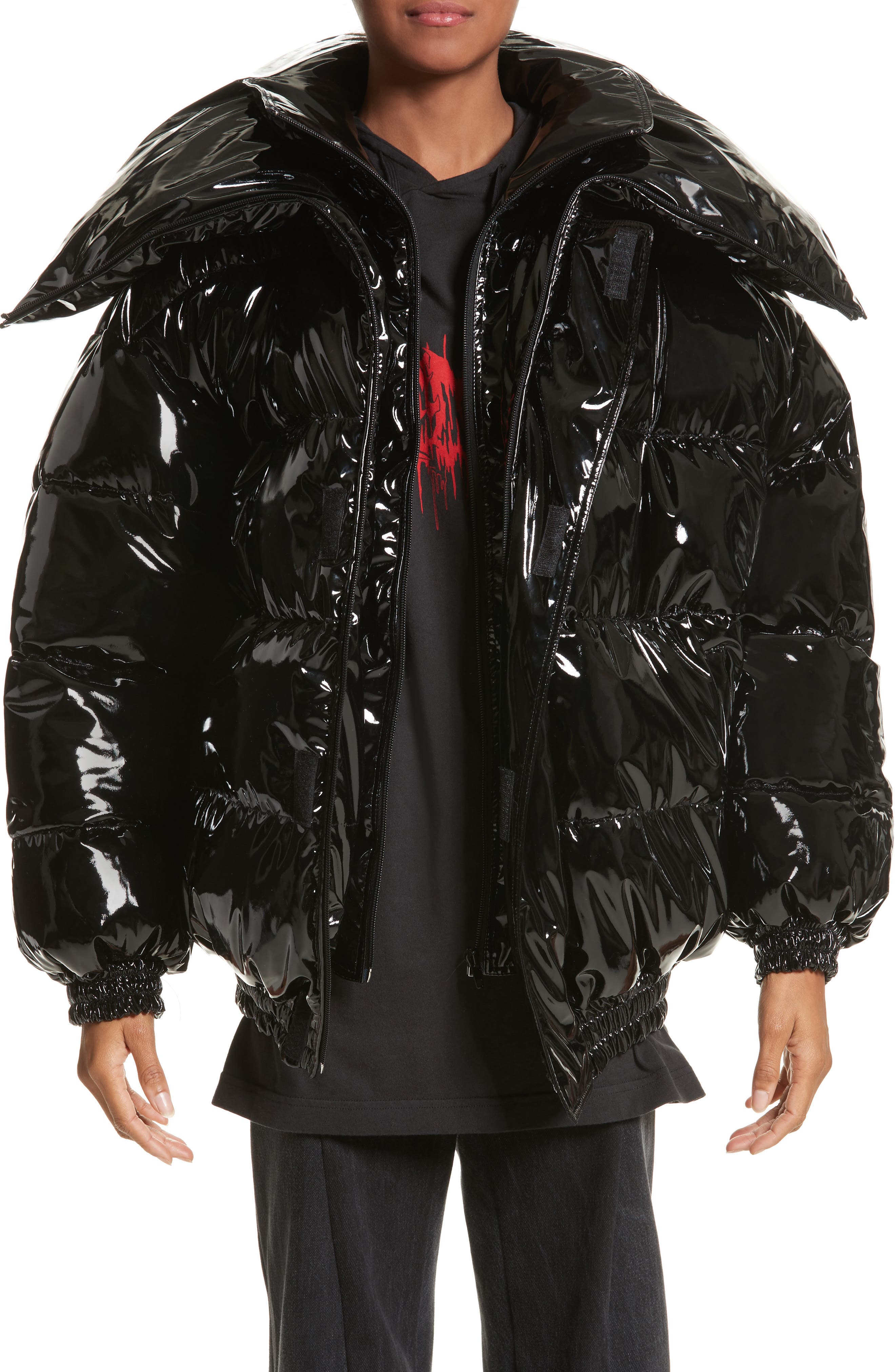 Miss Webcam Puffer Jacket,                             Main thumbnail 1, color,                             Black