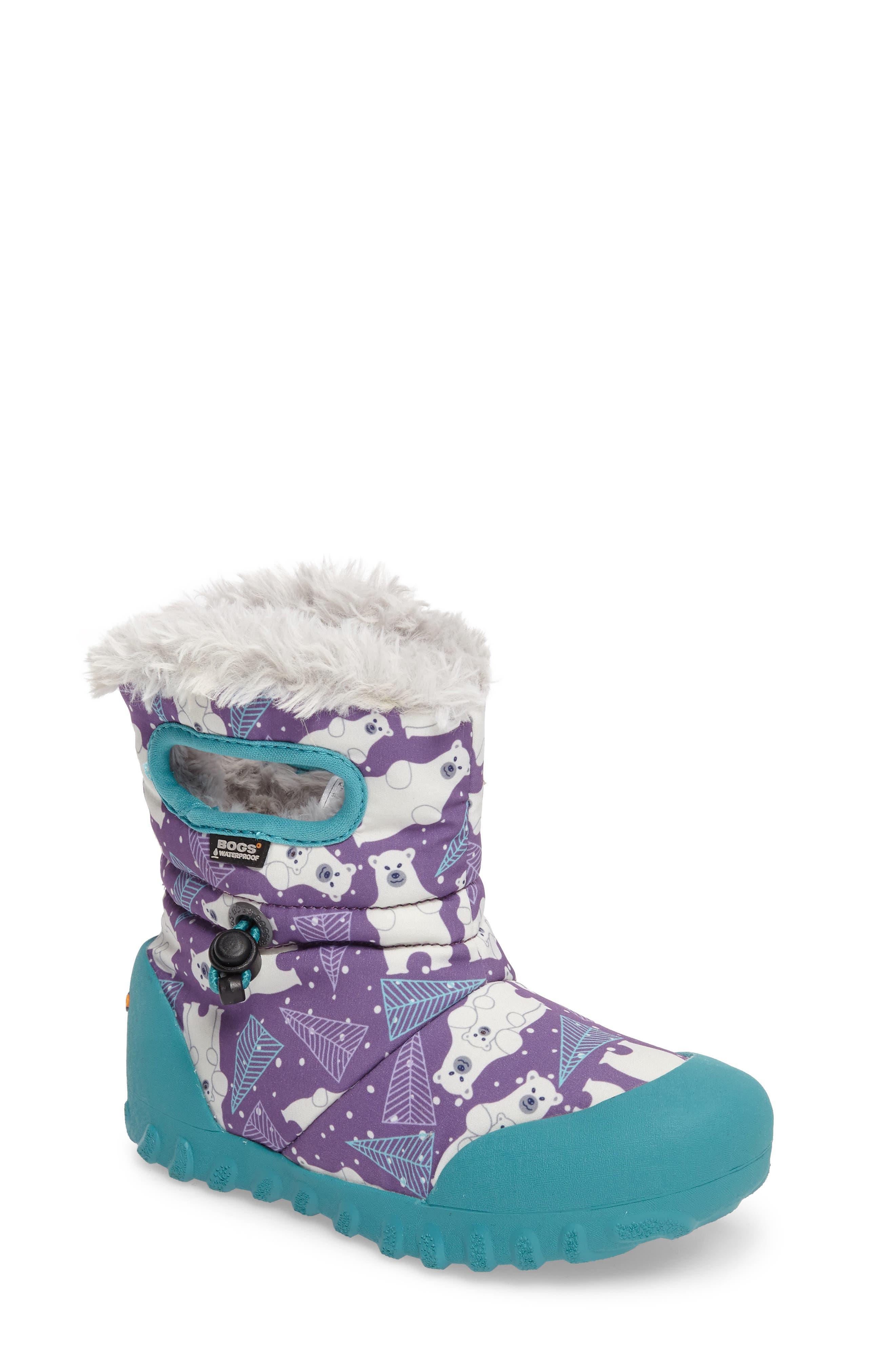 Bogs B-MOC Bears Waterproof Insulated Faux Fur Boot (Walker, Toddler, Little Kid & Big Kid)